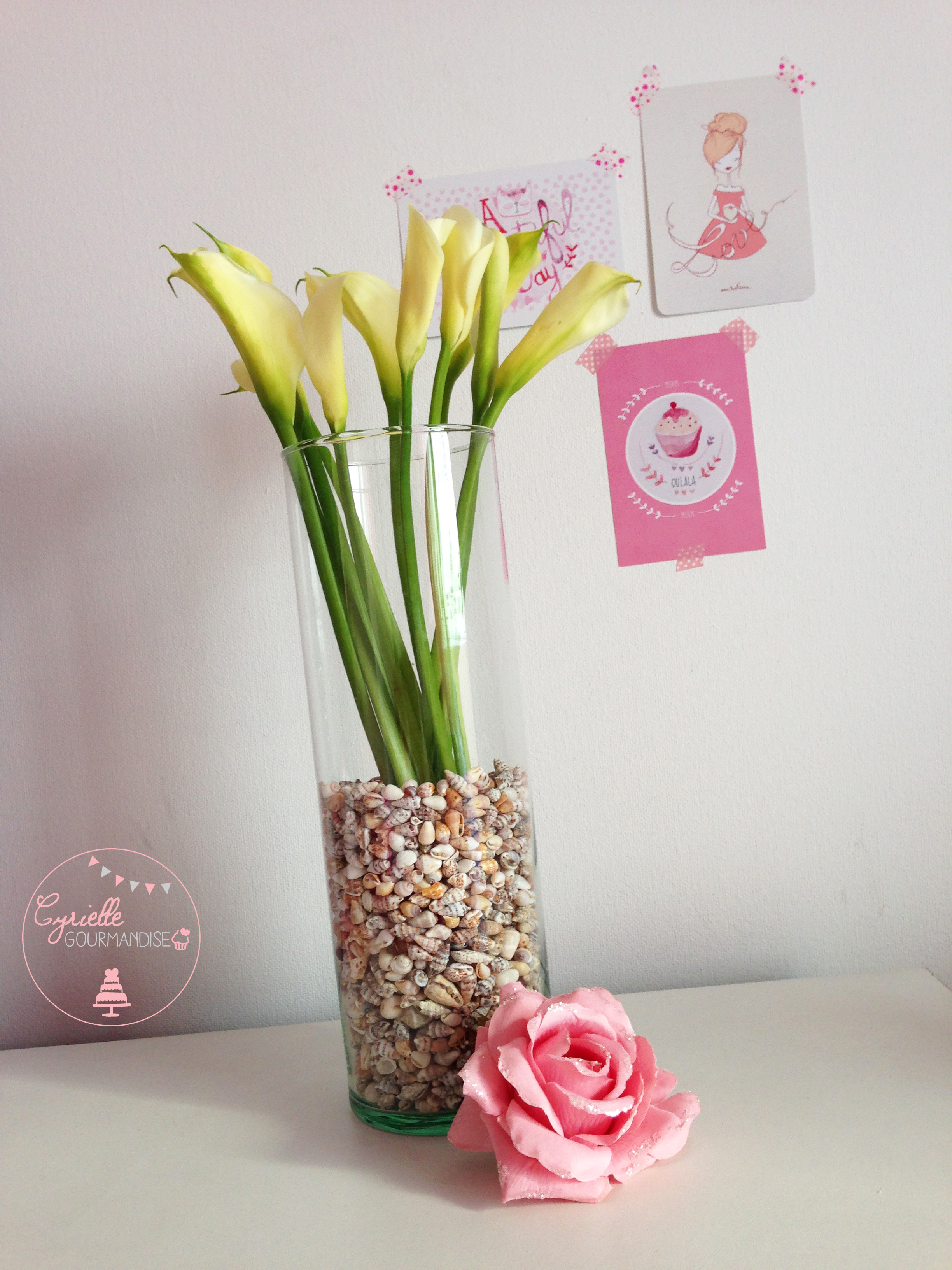 DIY vase coquillage 2