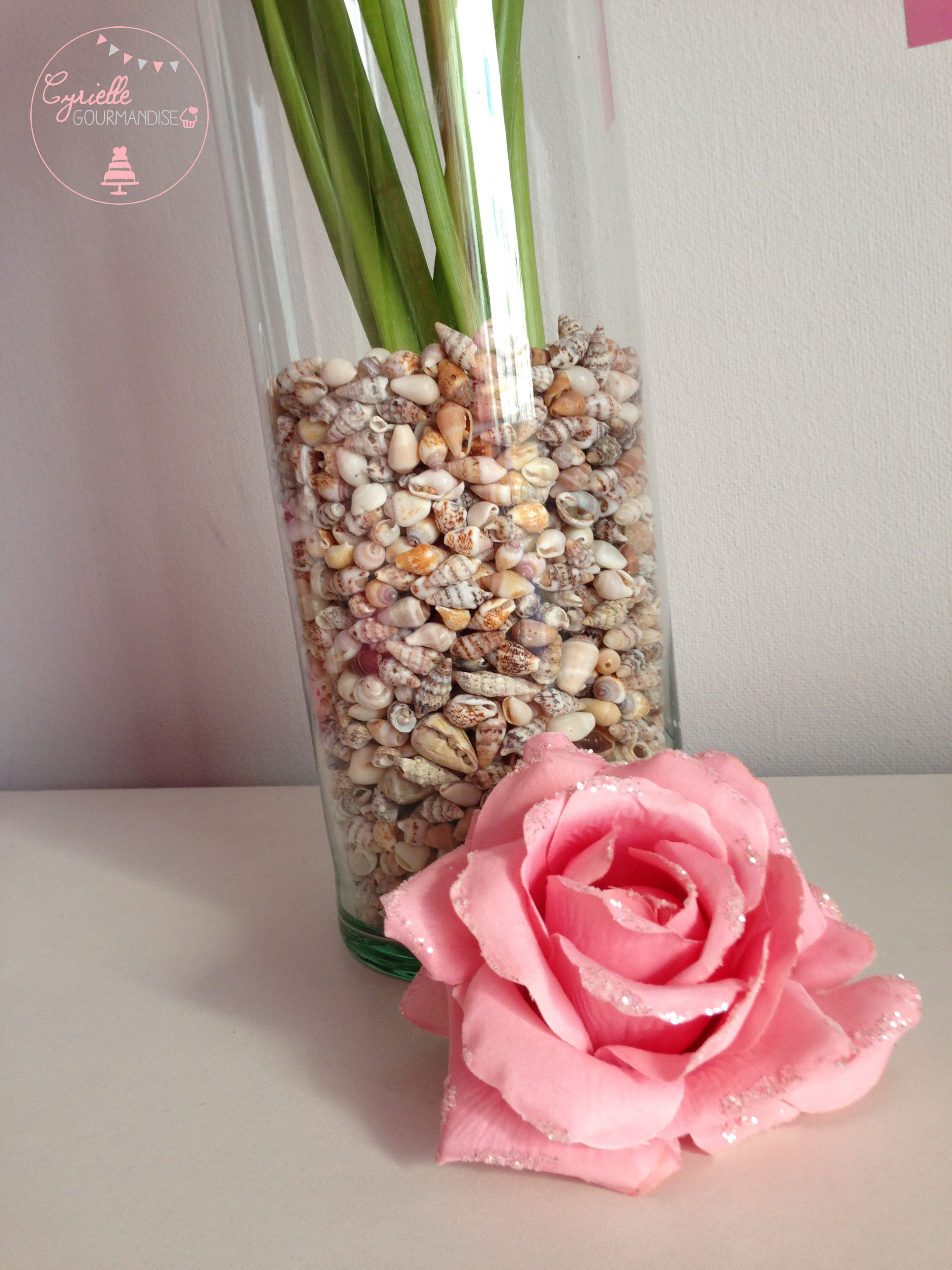 DIY vase coquillage zoom