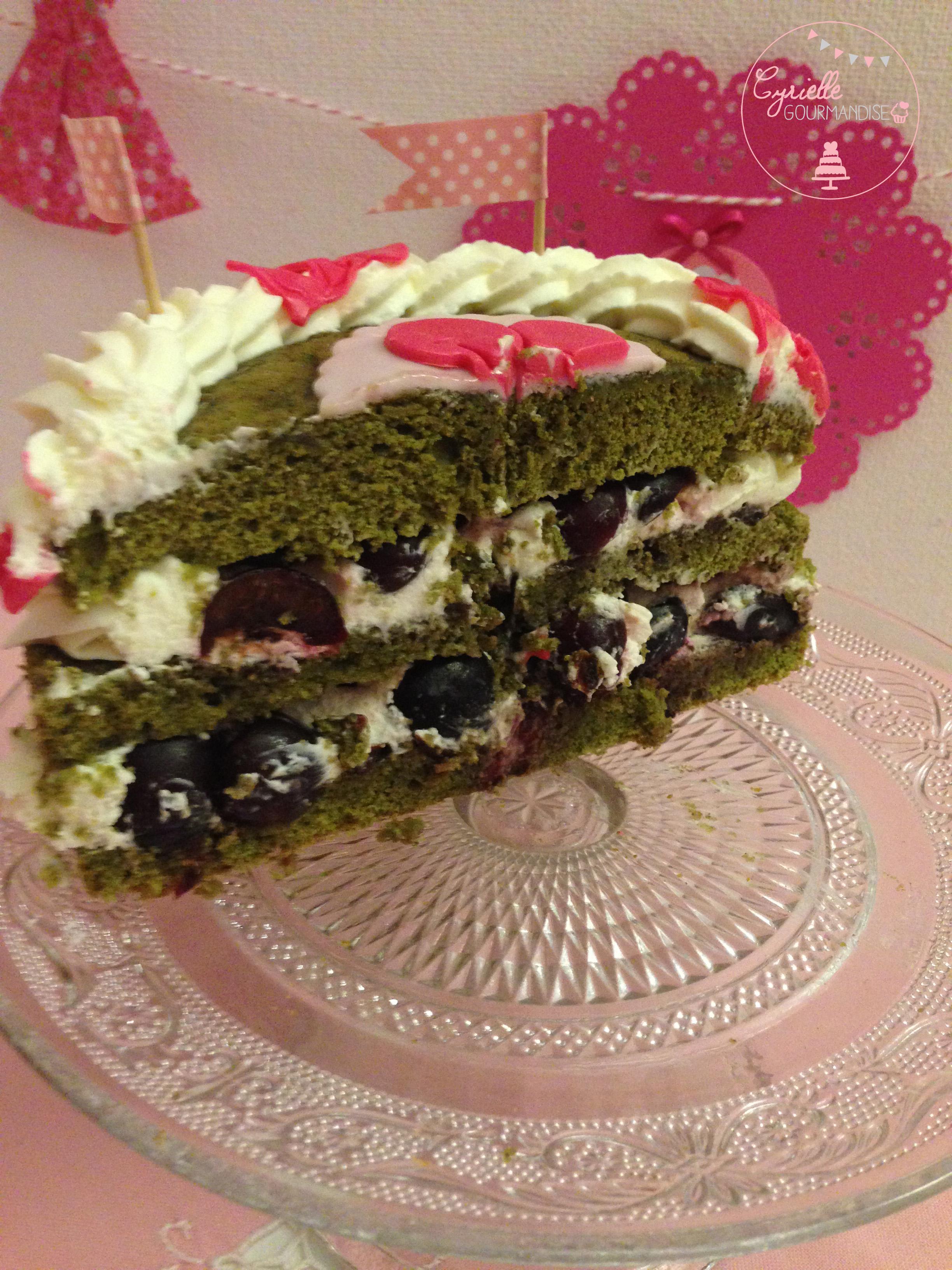 Layer cake matcha intérieur