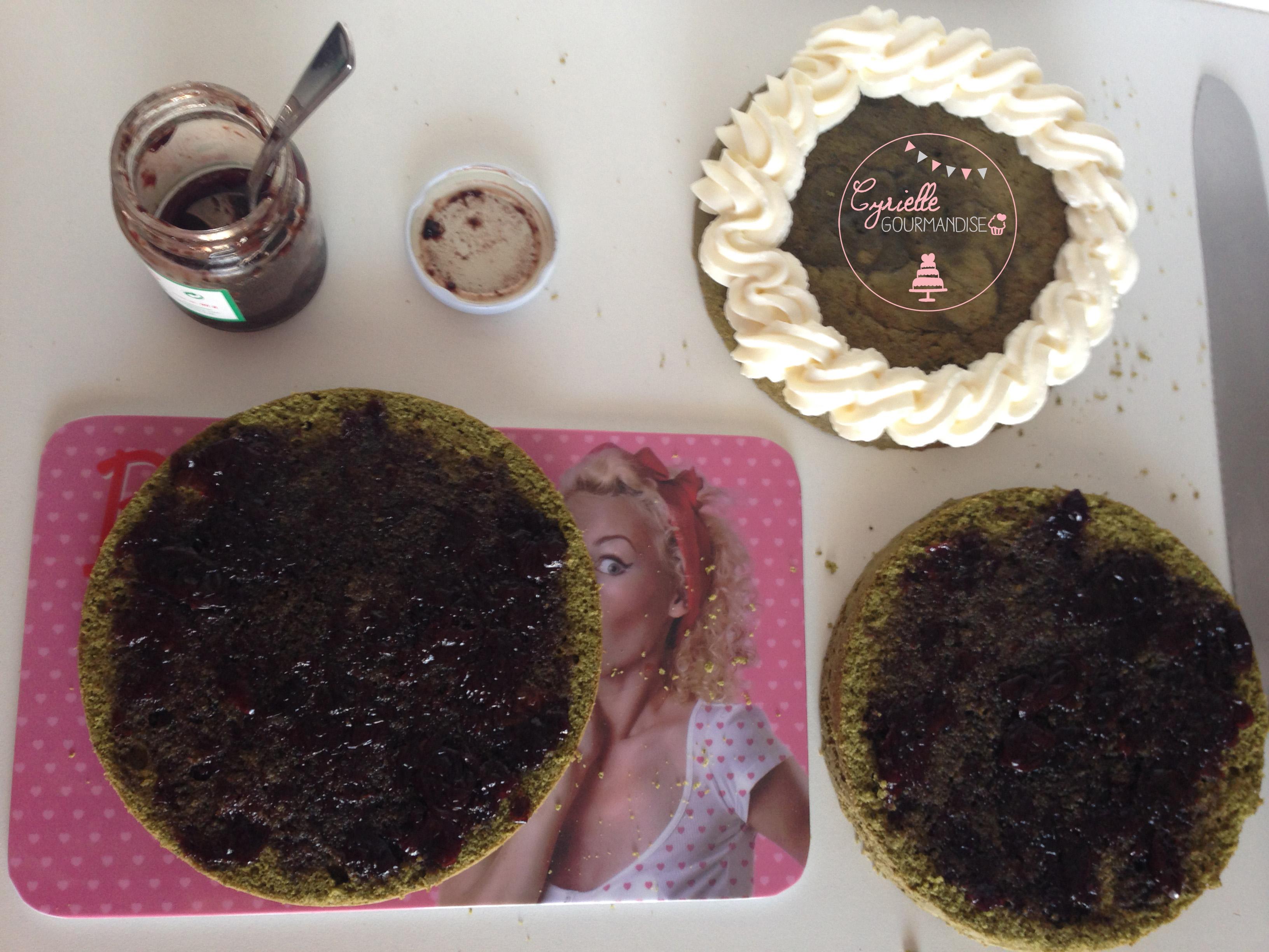 Layer cake matcha prépa