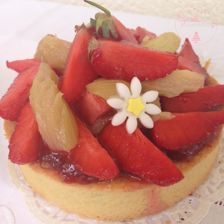 tarte fraises rhubarbe 1