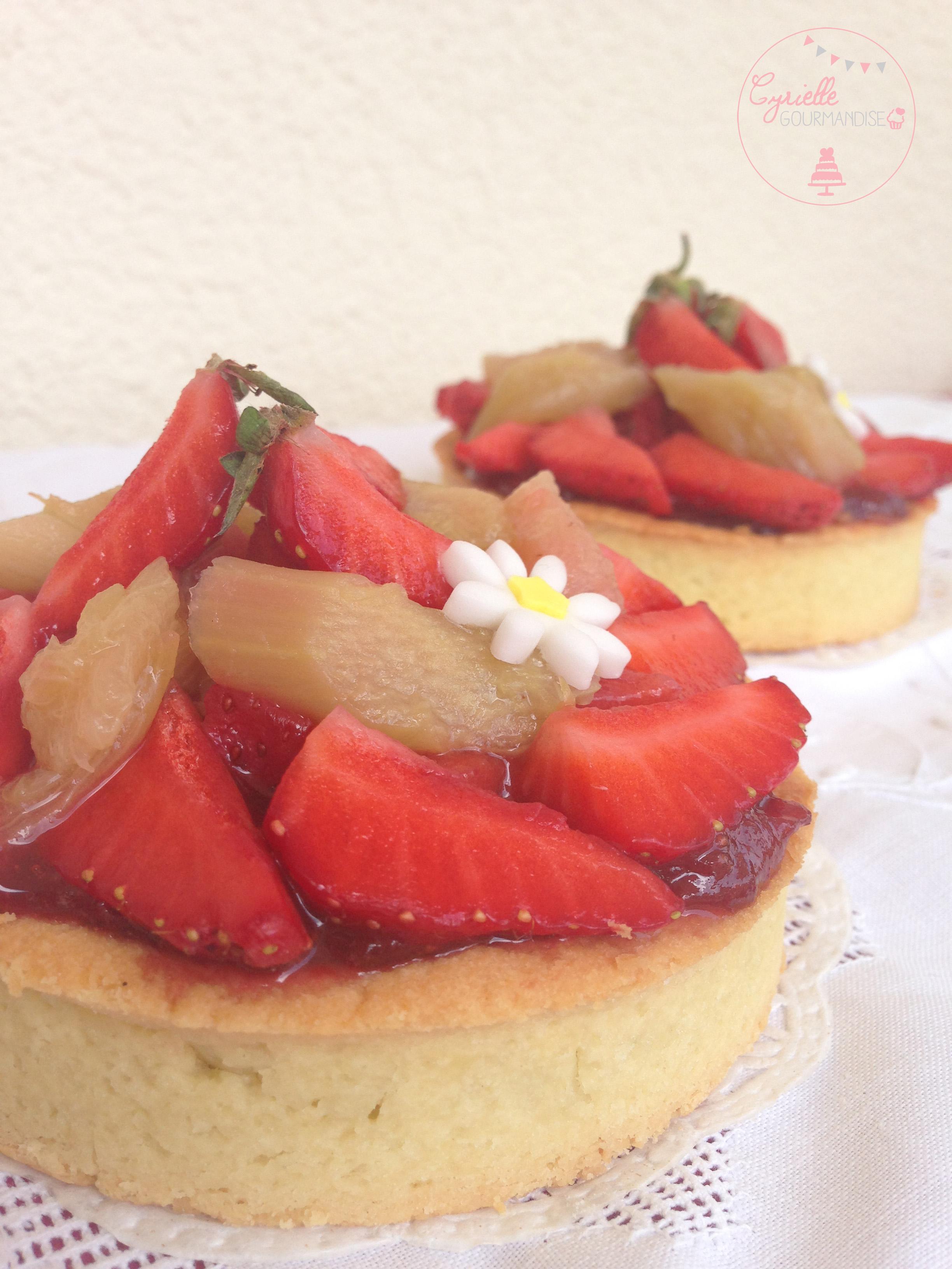 tarte fraises rhubarbe 2