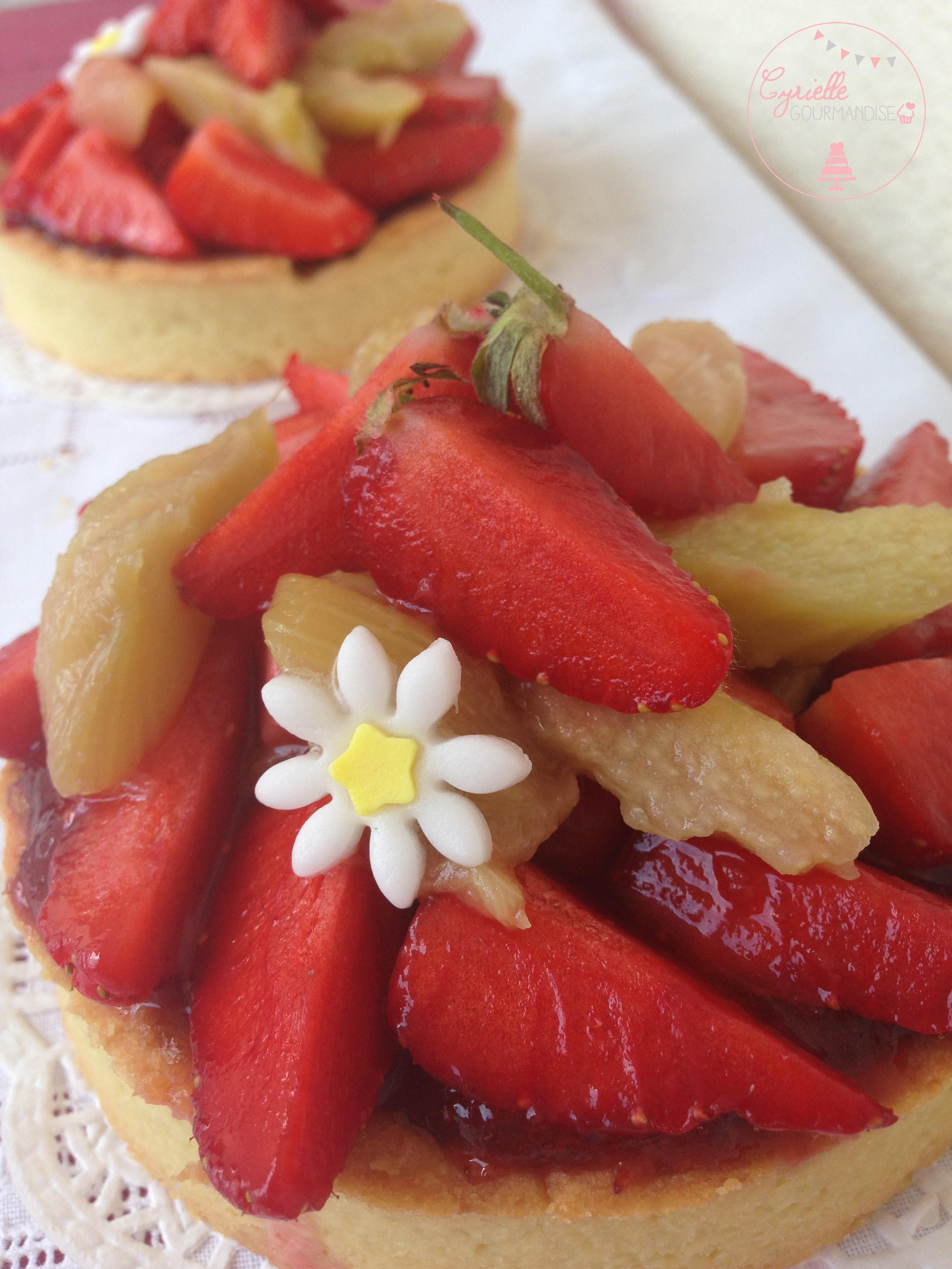 tarte fraises rhubarbe 3