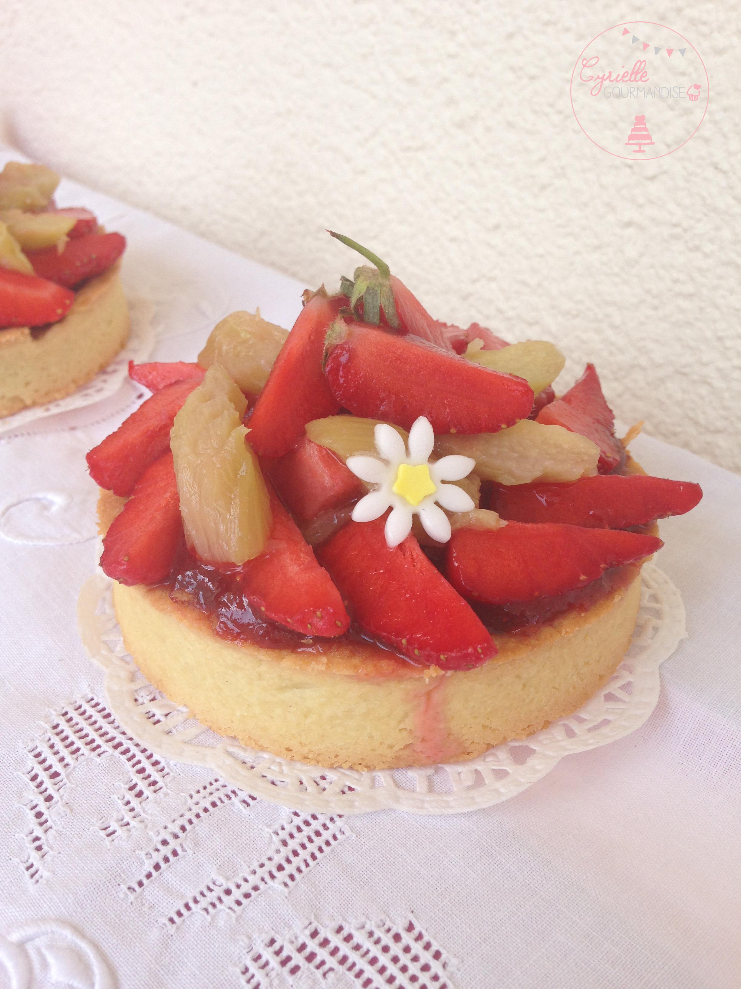tarte fraises rhubarbe 5