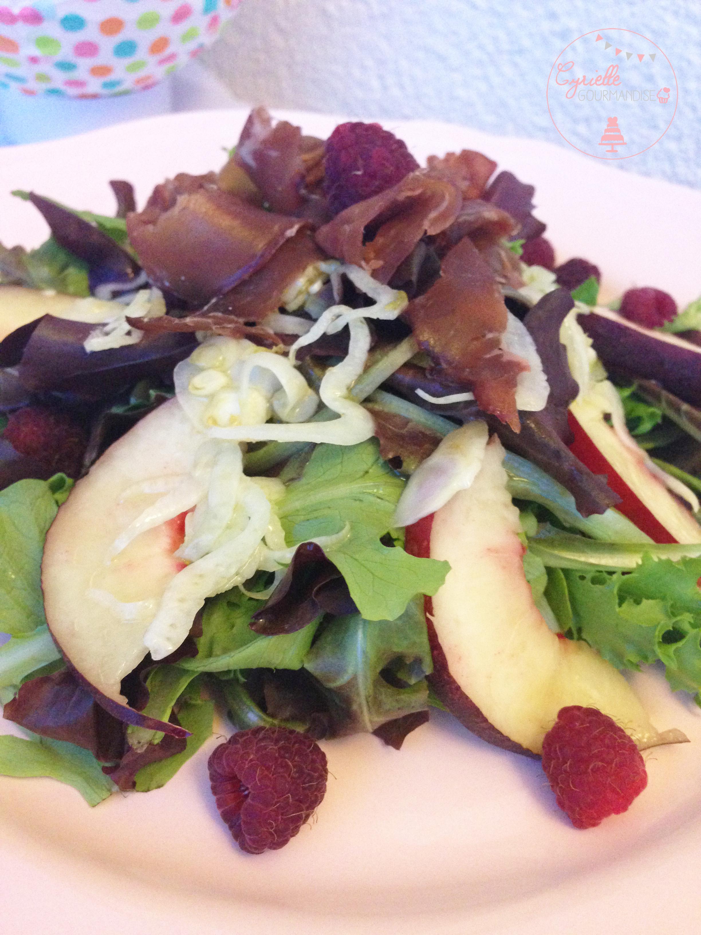 Salade peche fenouil