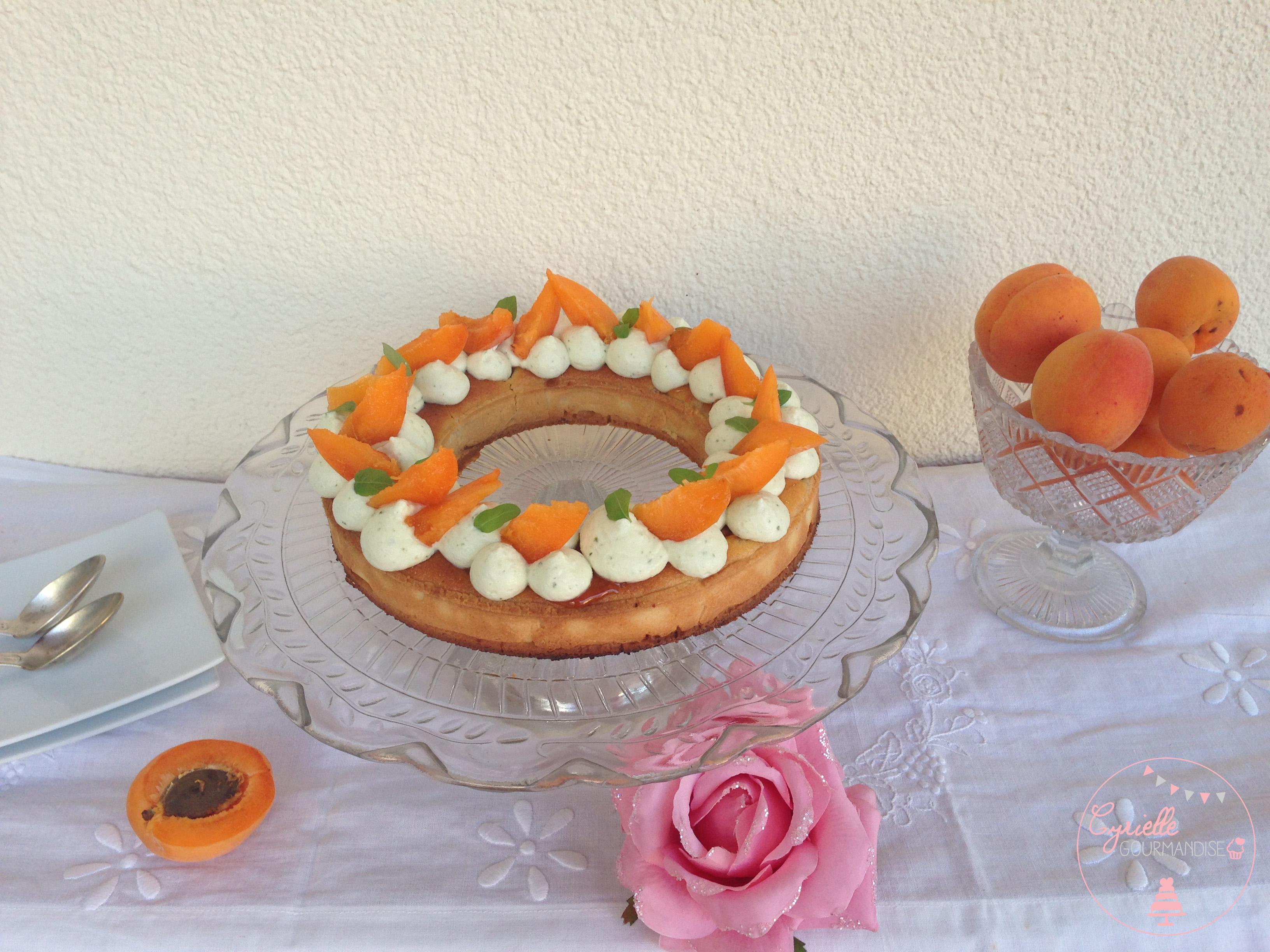 Tarte abricots basilic