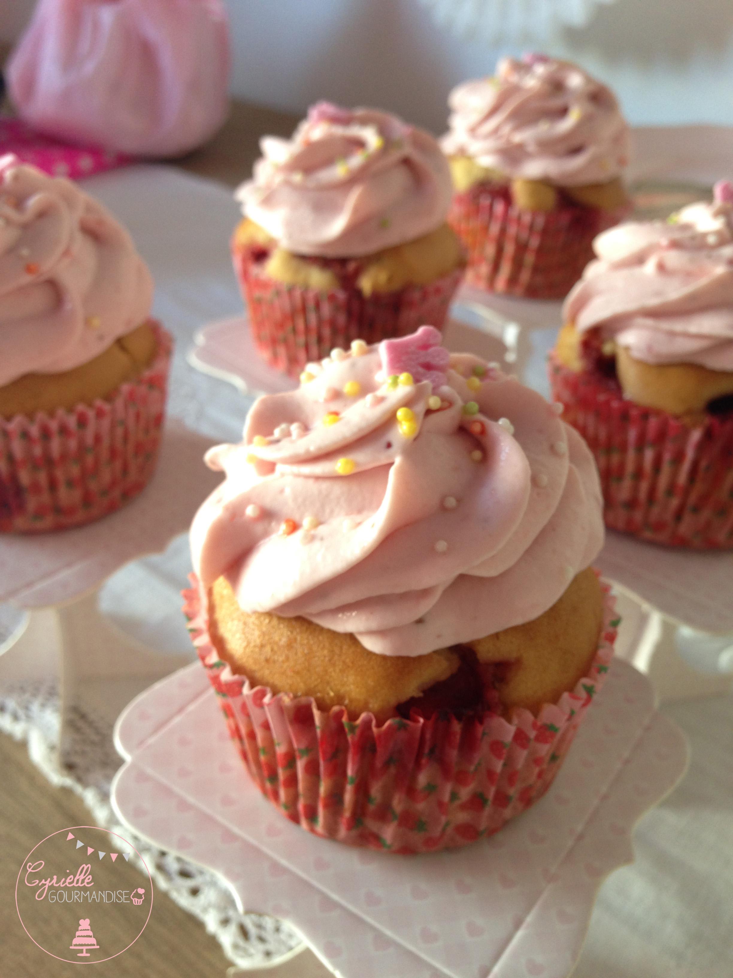 Cupcakes fraises 3