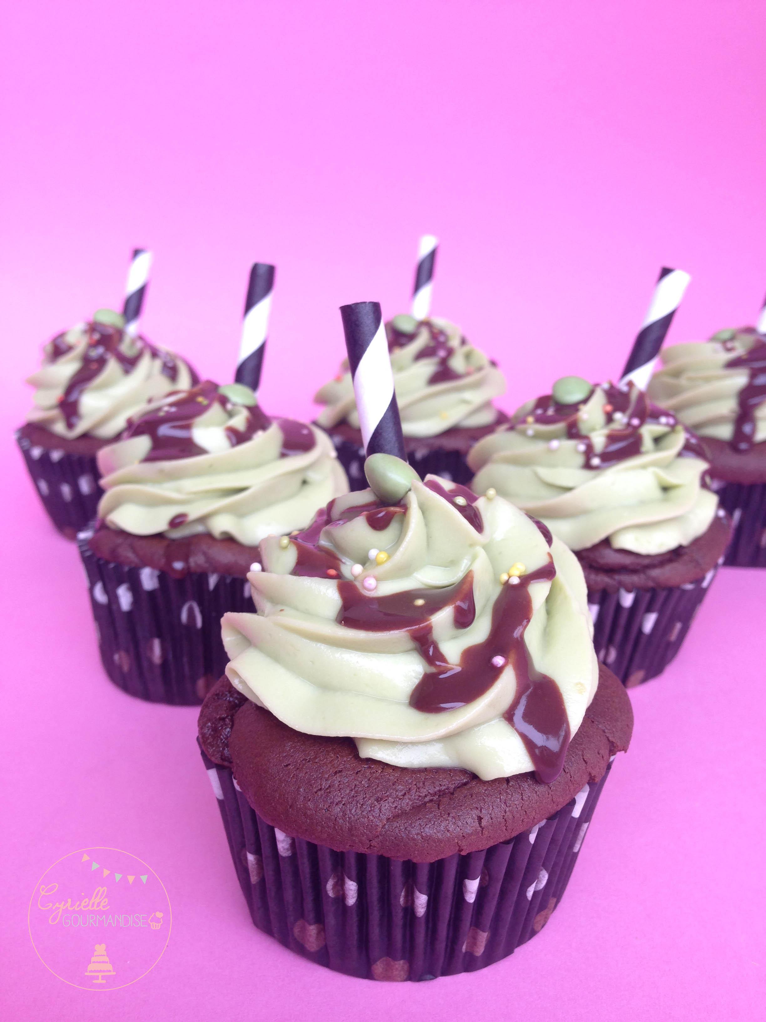 Cupcakes chocolat avocat