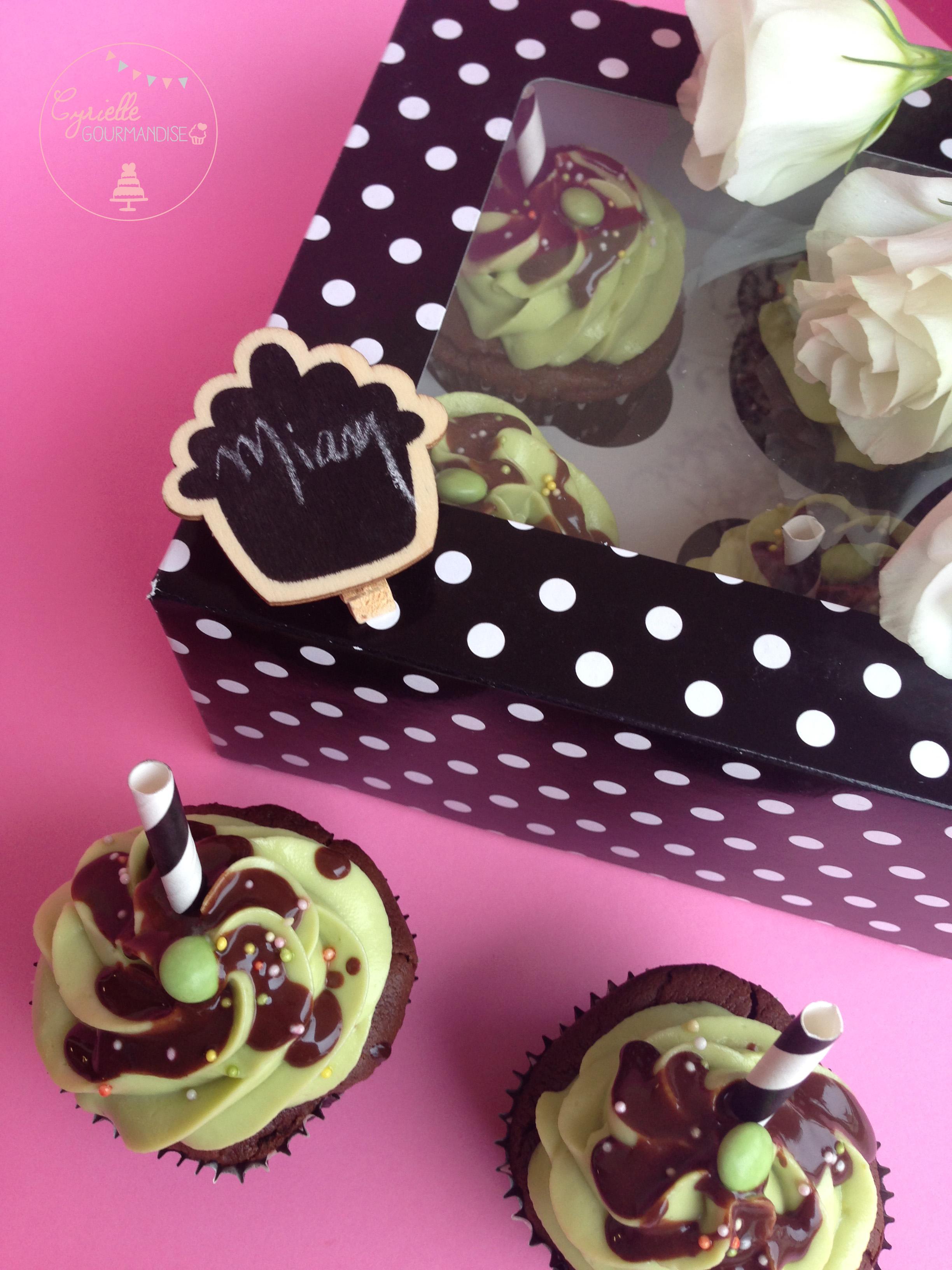 Cupcakes chocolat avocat 5