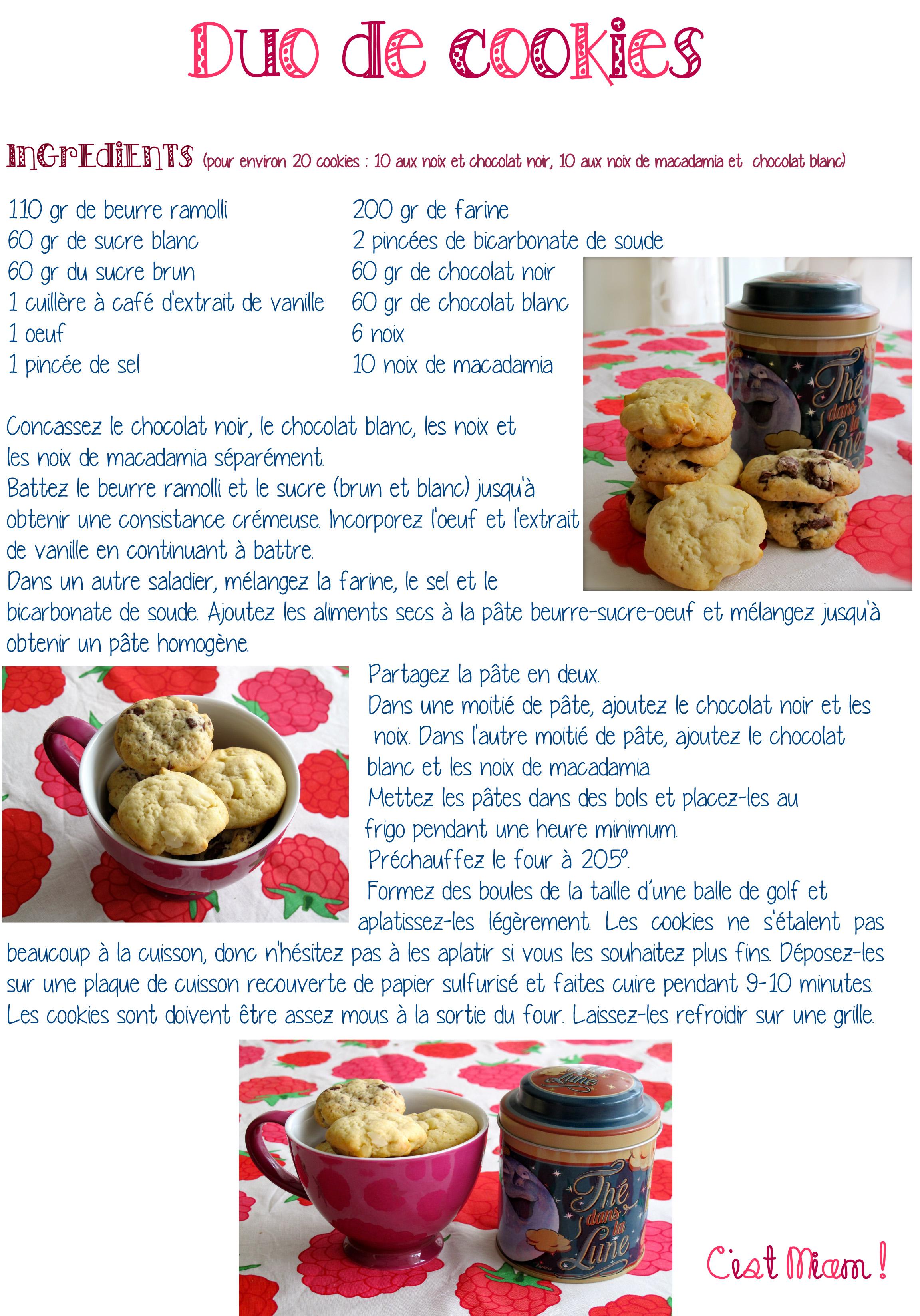 Duo de cookies - C'est Miam