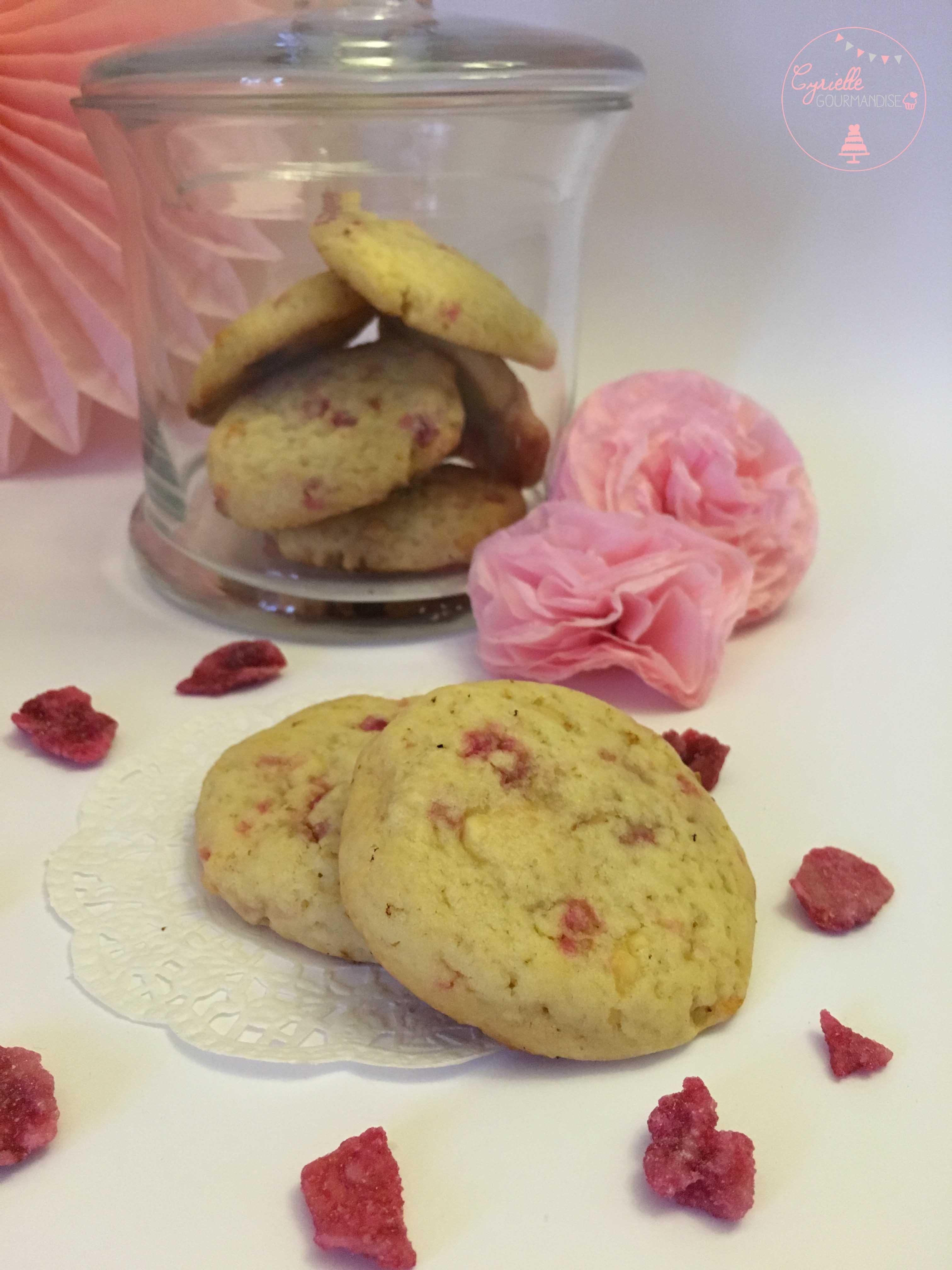 Cookies chocolat blanc rose 1
