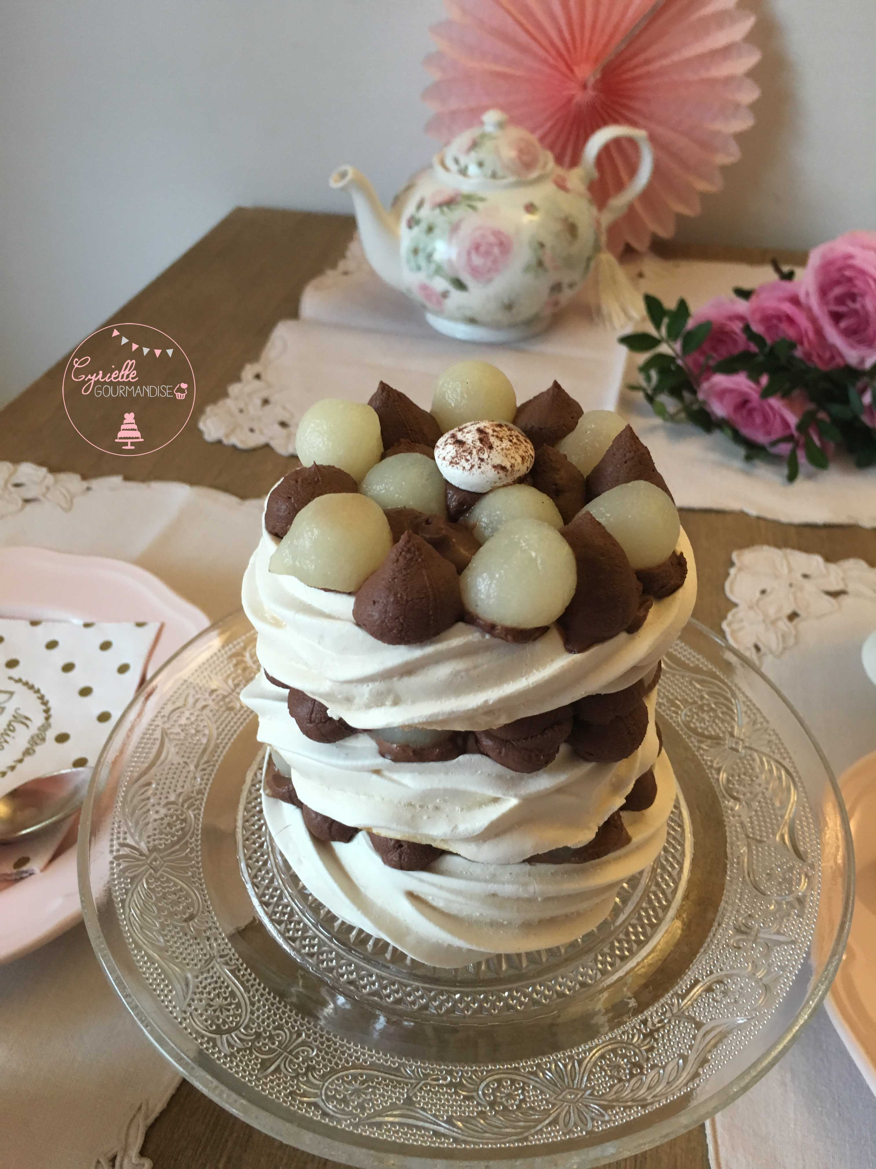 Layer Meringue chocolat Poire 3