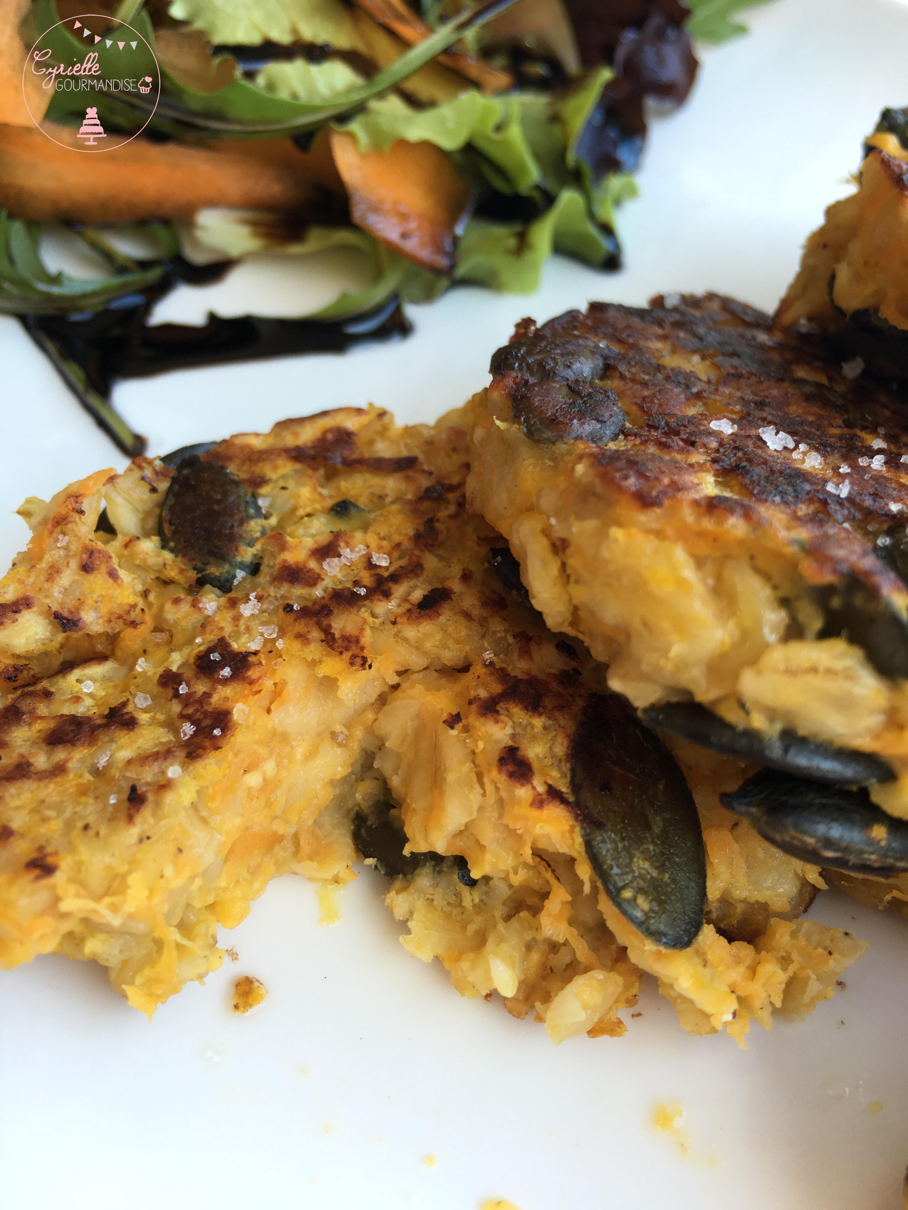 Galette potiron, graines de courge et parmesan 5
