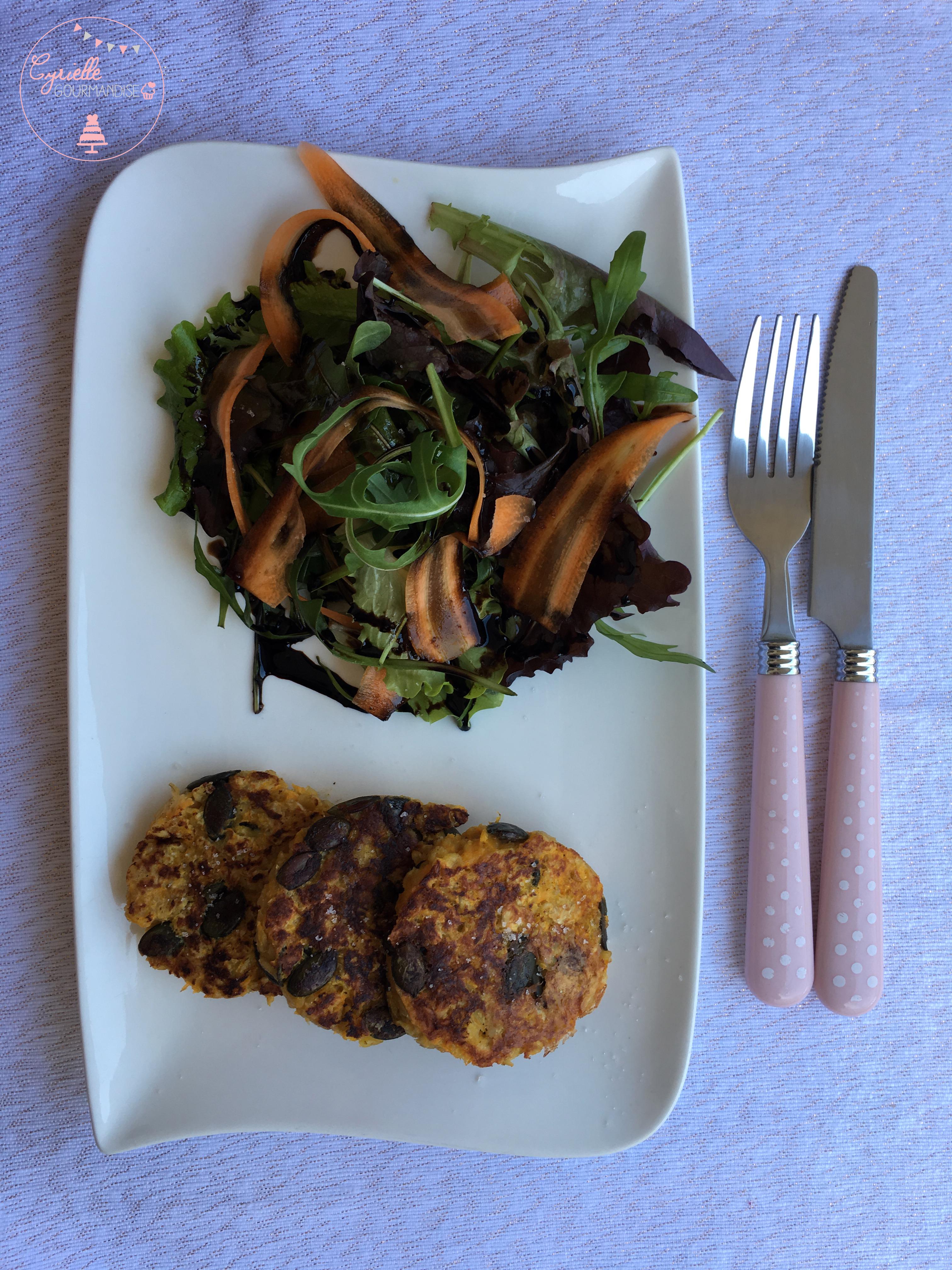 Galette potiron, graines de courge et parmesan 6