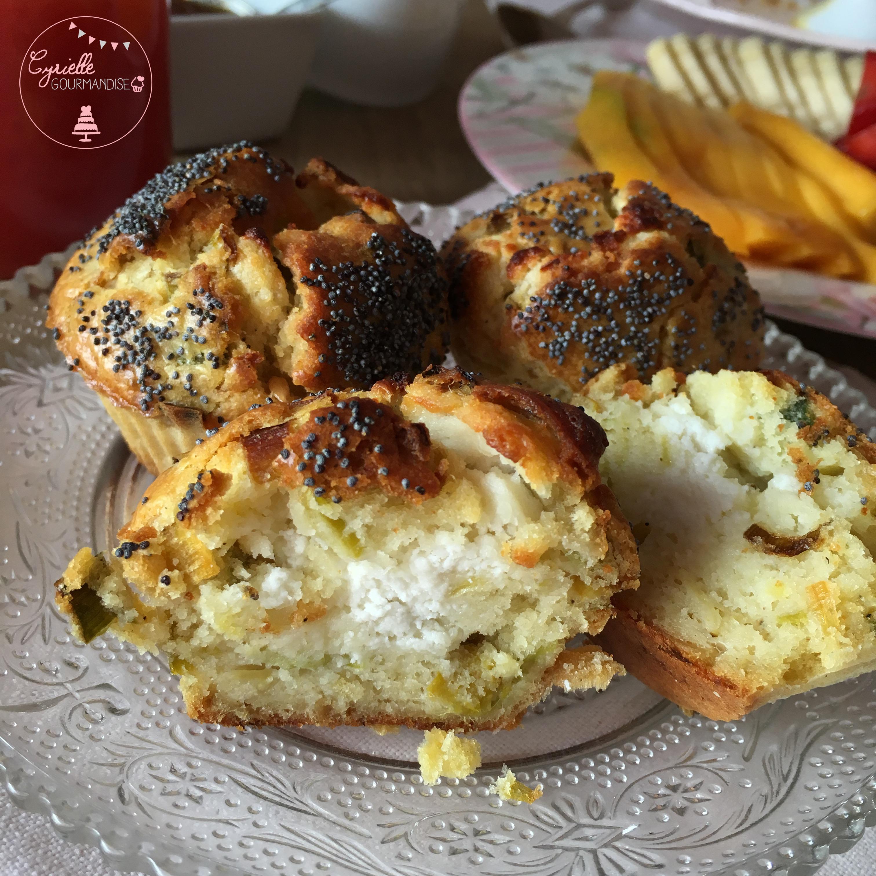 Muffins poireau chèvre