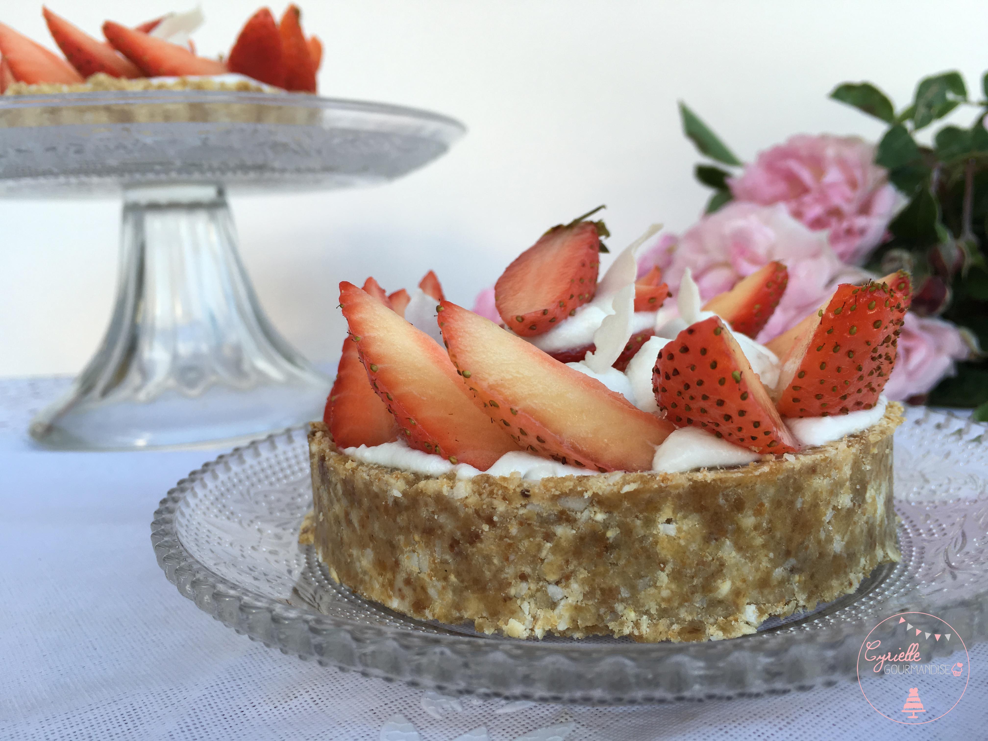 Tarte fraises crue 3