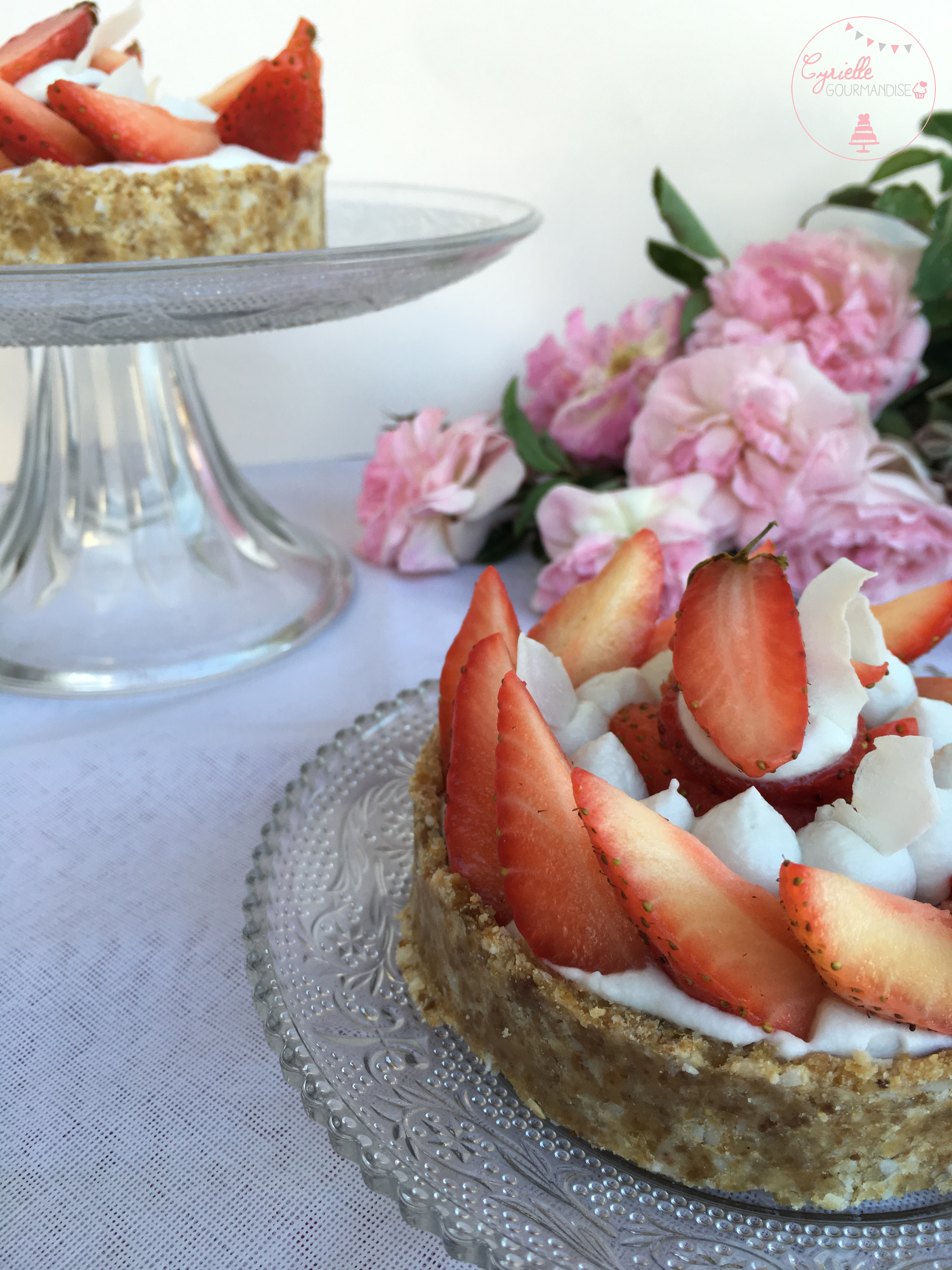 Tarte fraises crue 4