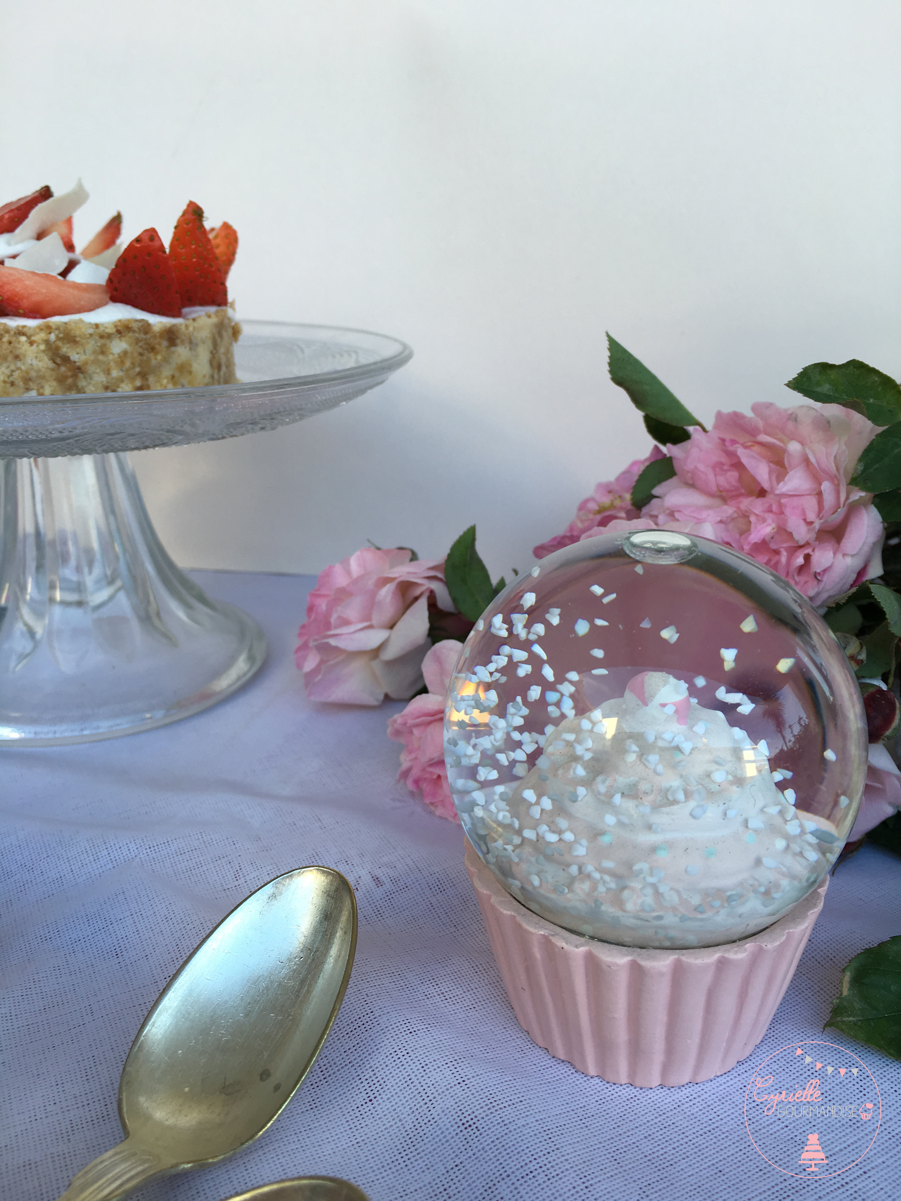 Tarte fraises crue objet