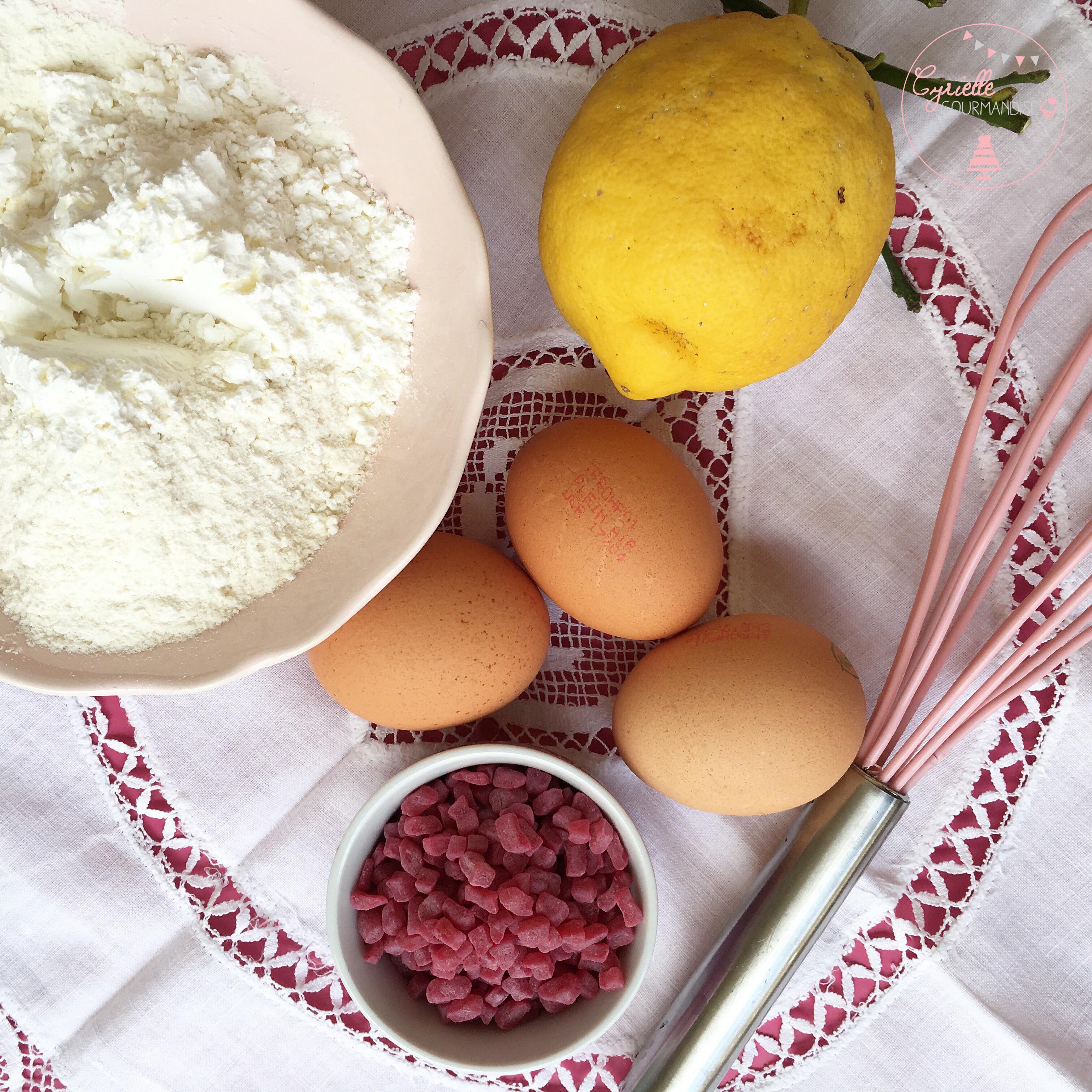moelleux ricotta citron framboise prépa
