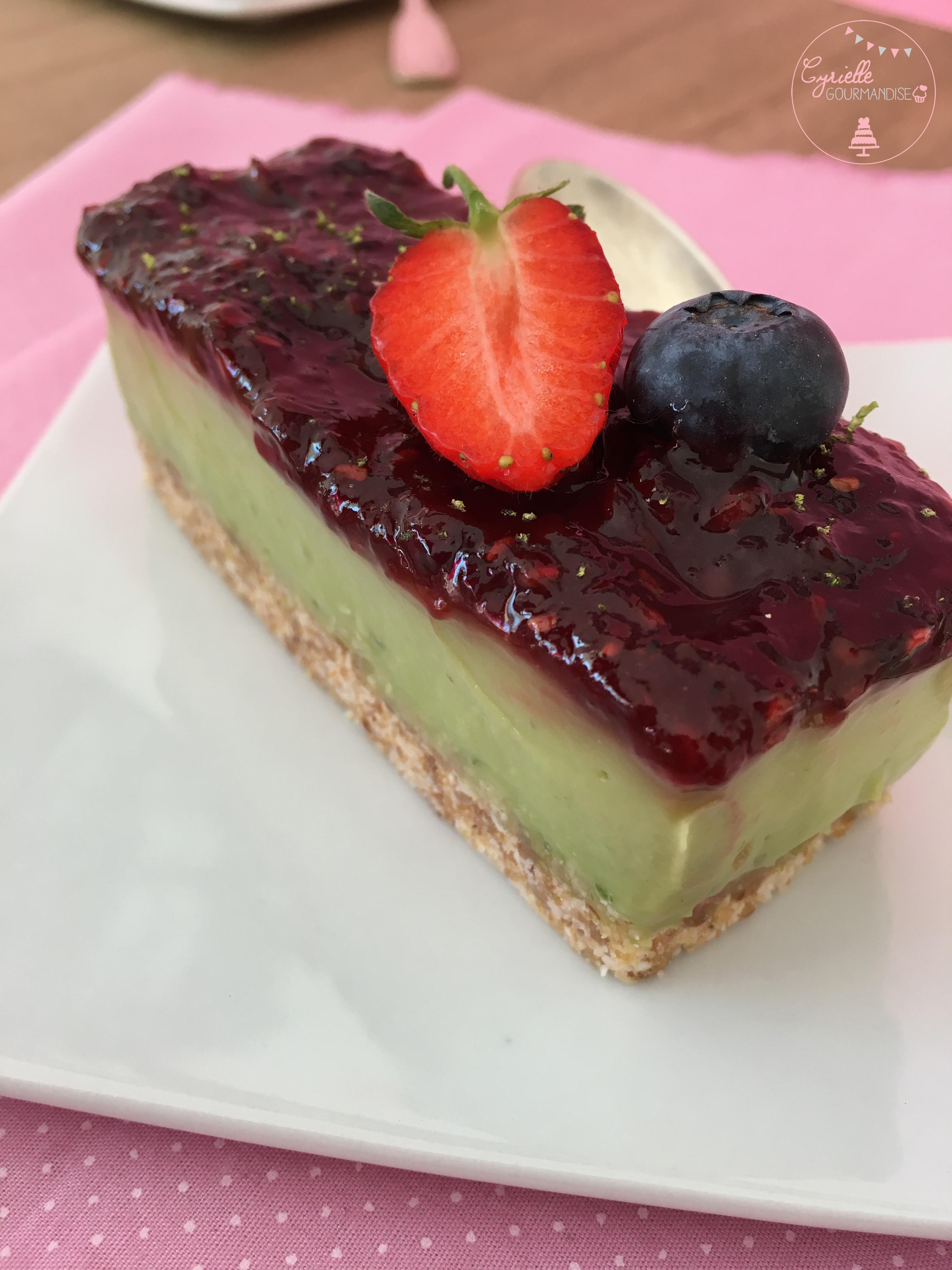 Comme un cheesecake avocat citron vert framboise 5
