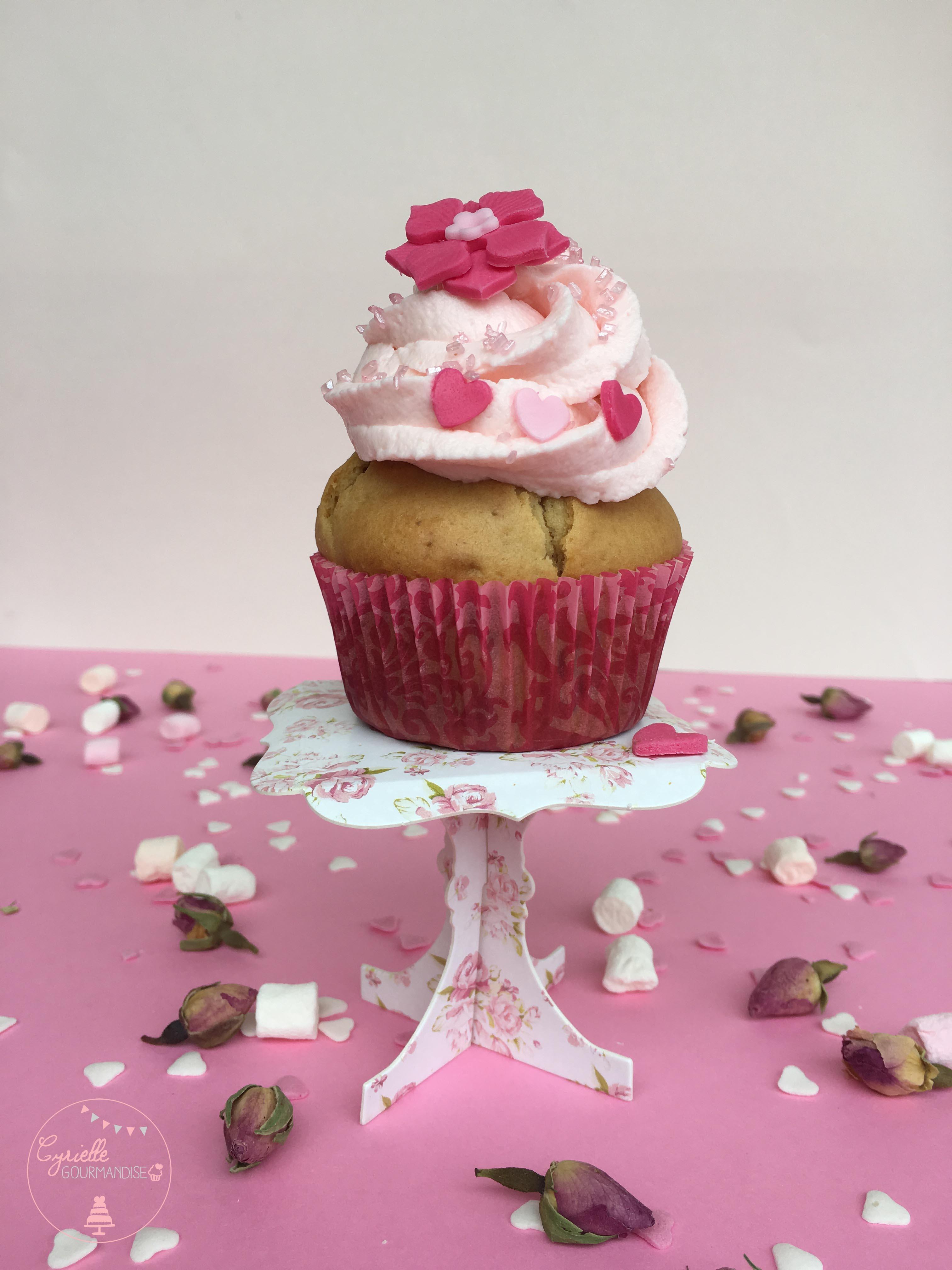 Cupcake rhubarbe rose 4