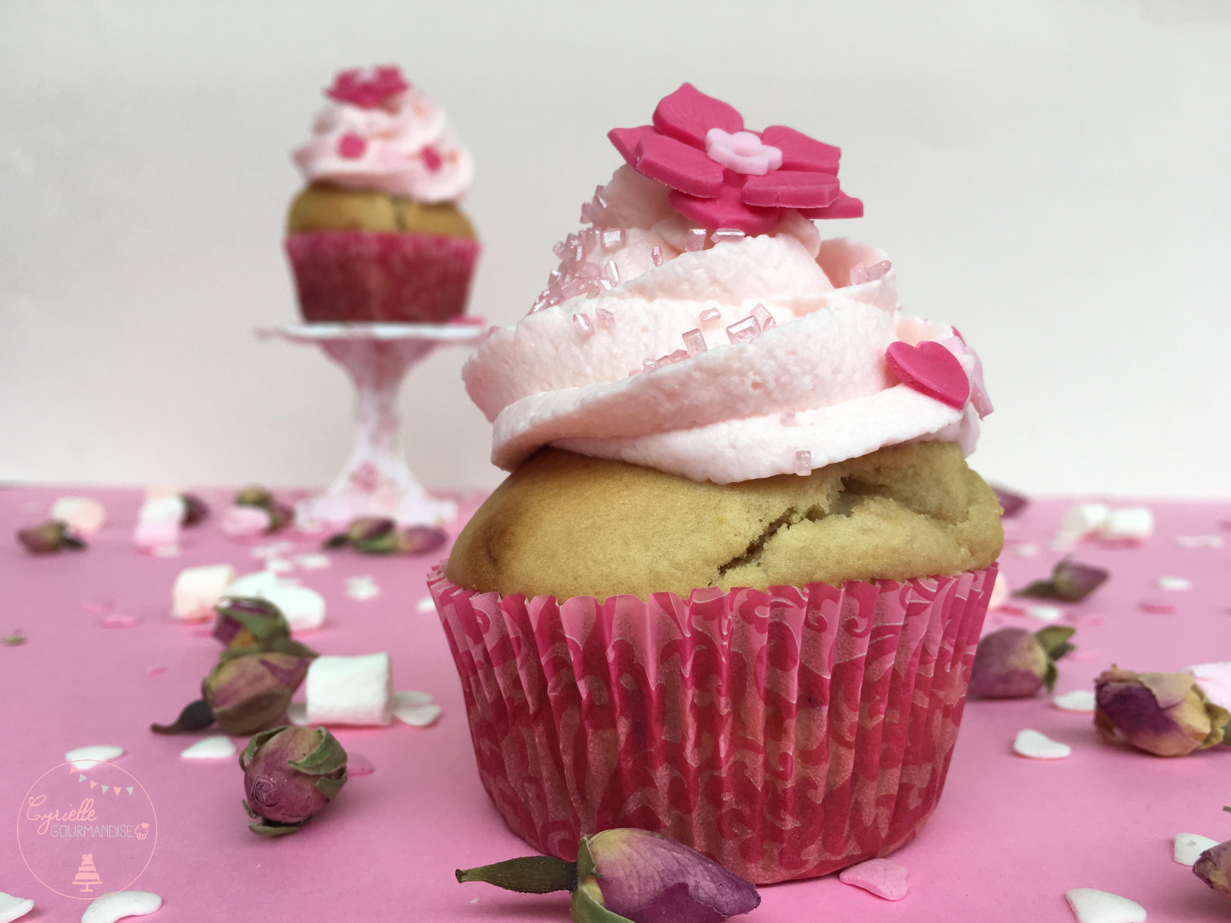 Cupcake rhubarbe rose 5