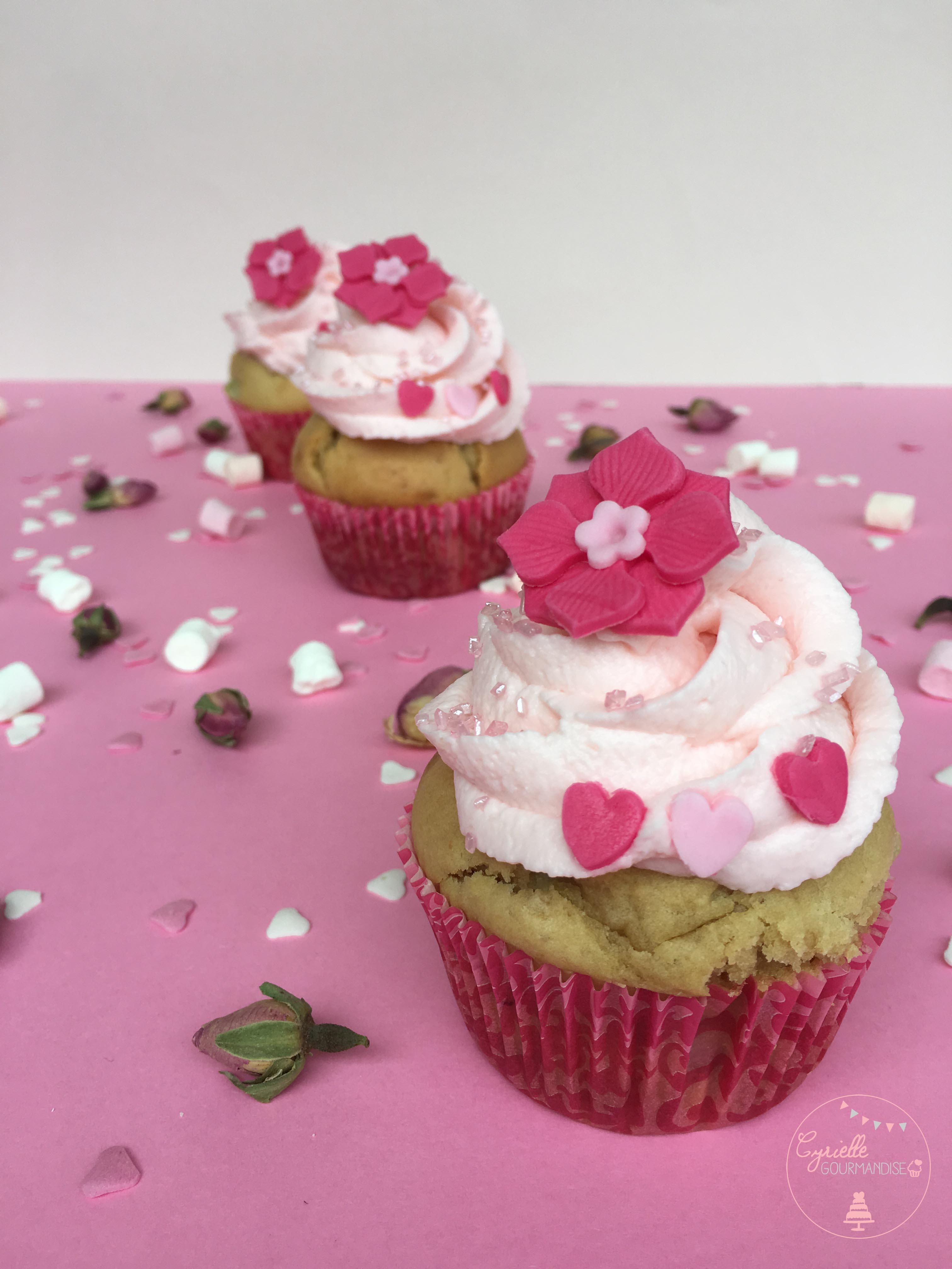Cupcake rhubarbe rose 7