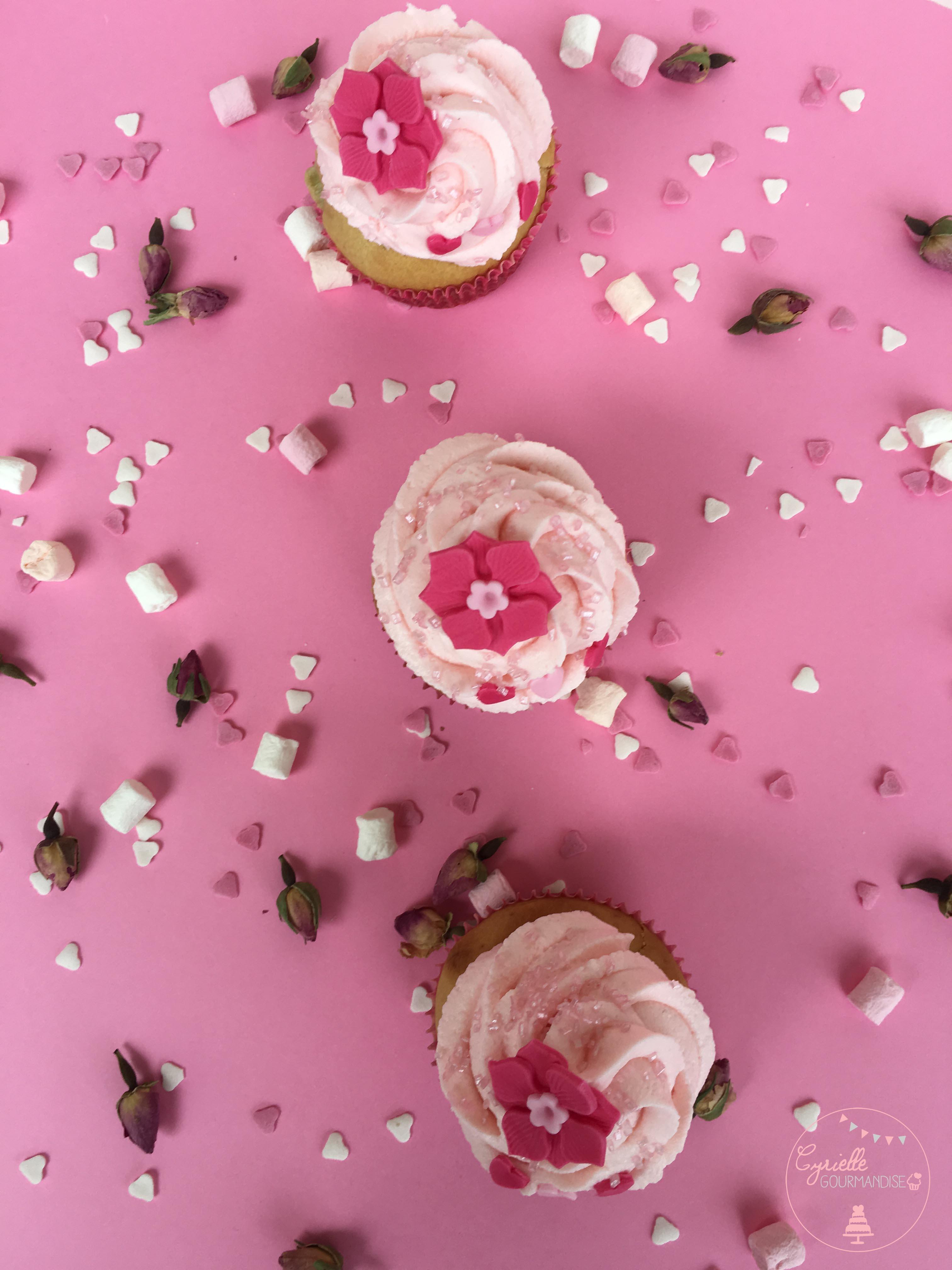 Cupcake rhubarbe rose 8