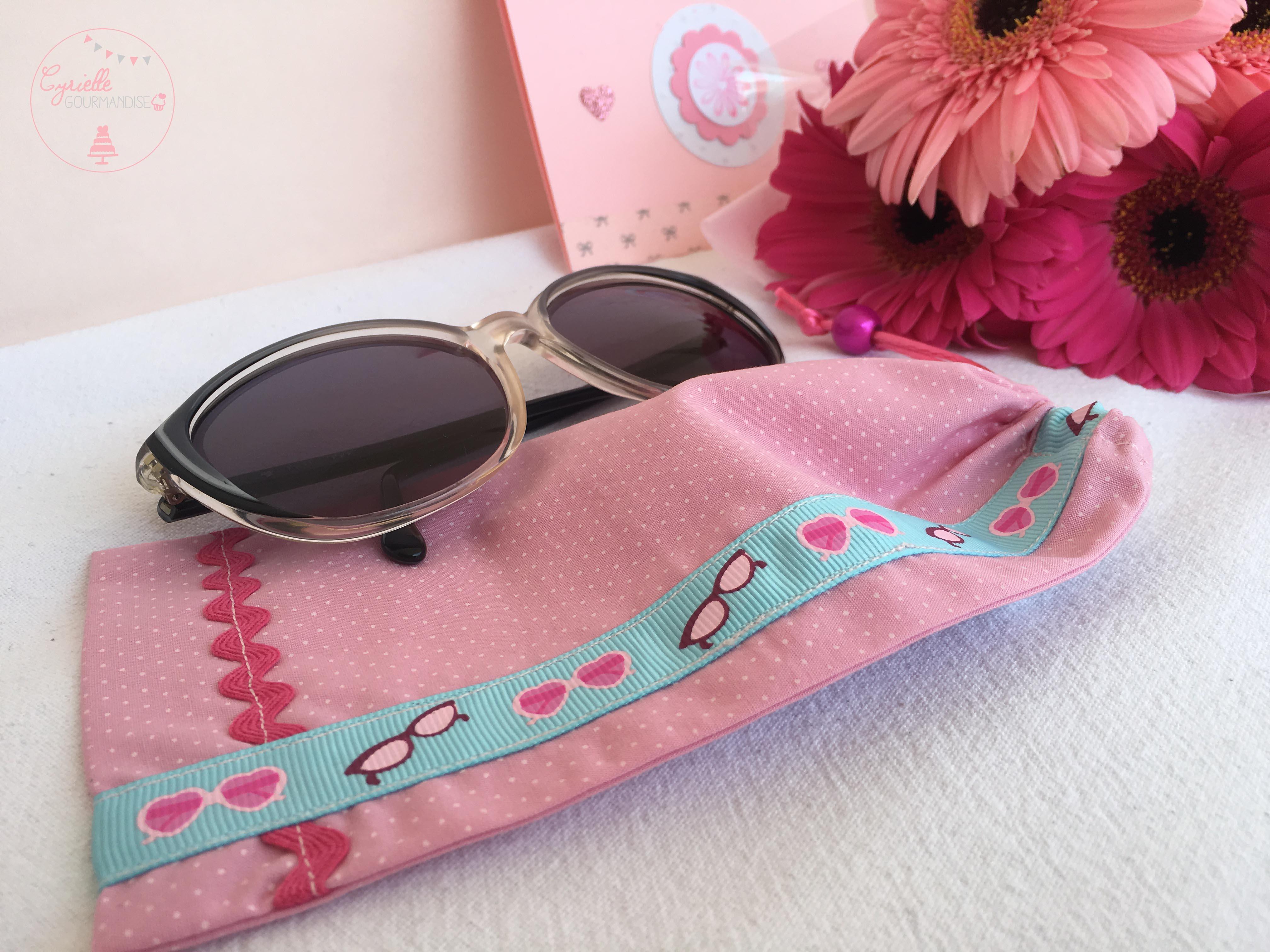 DIY pochette lunette