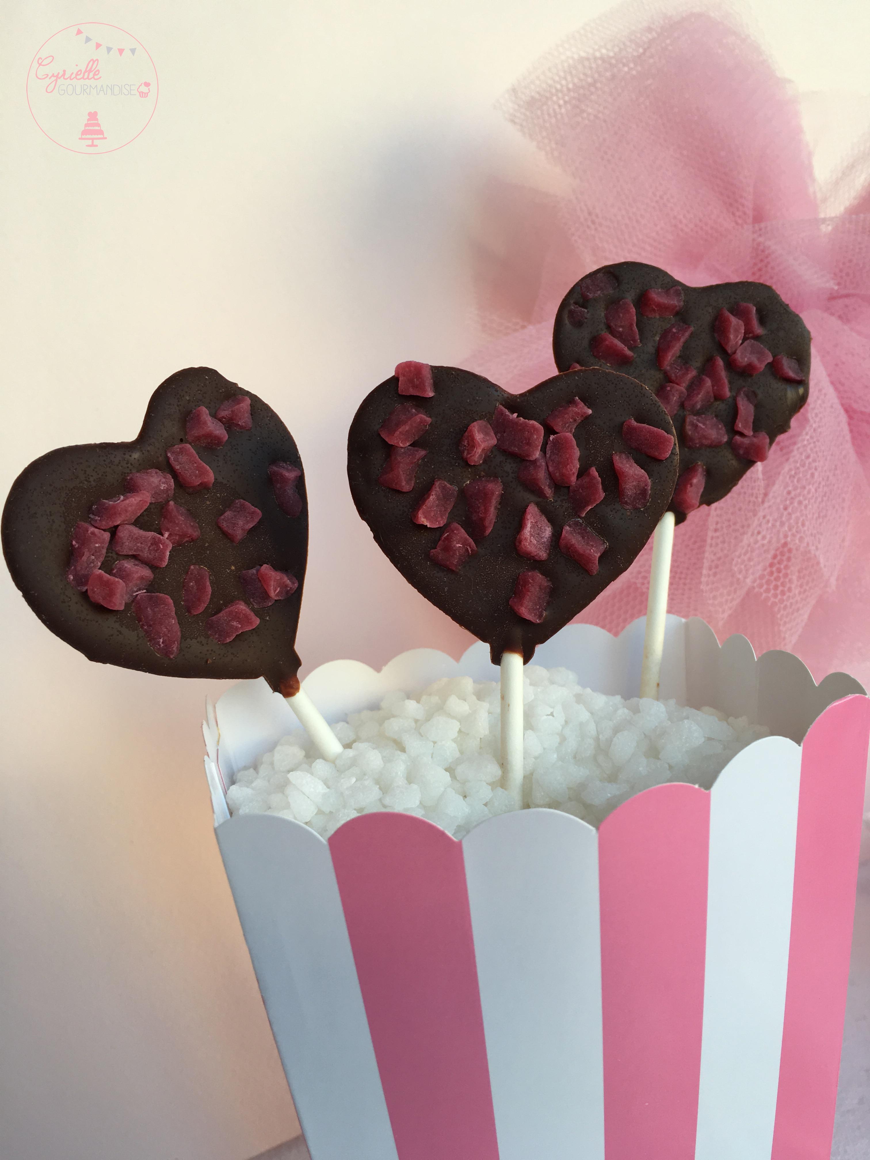 Sucettes chocolat framboise 3