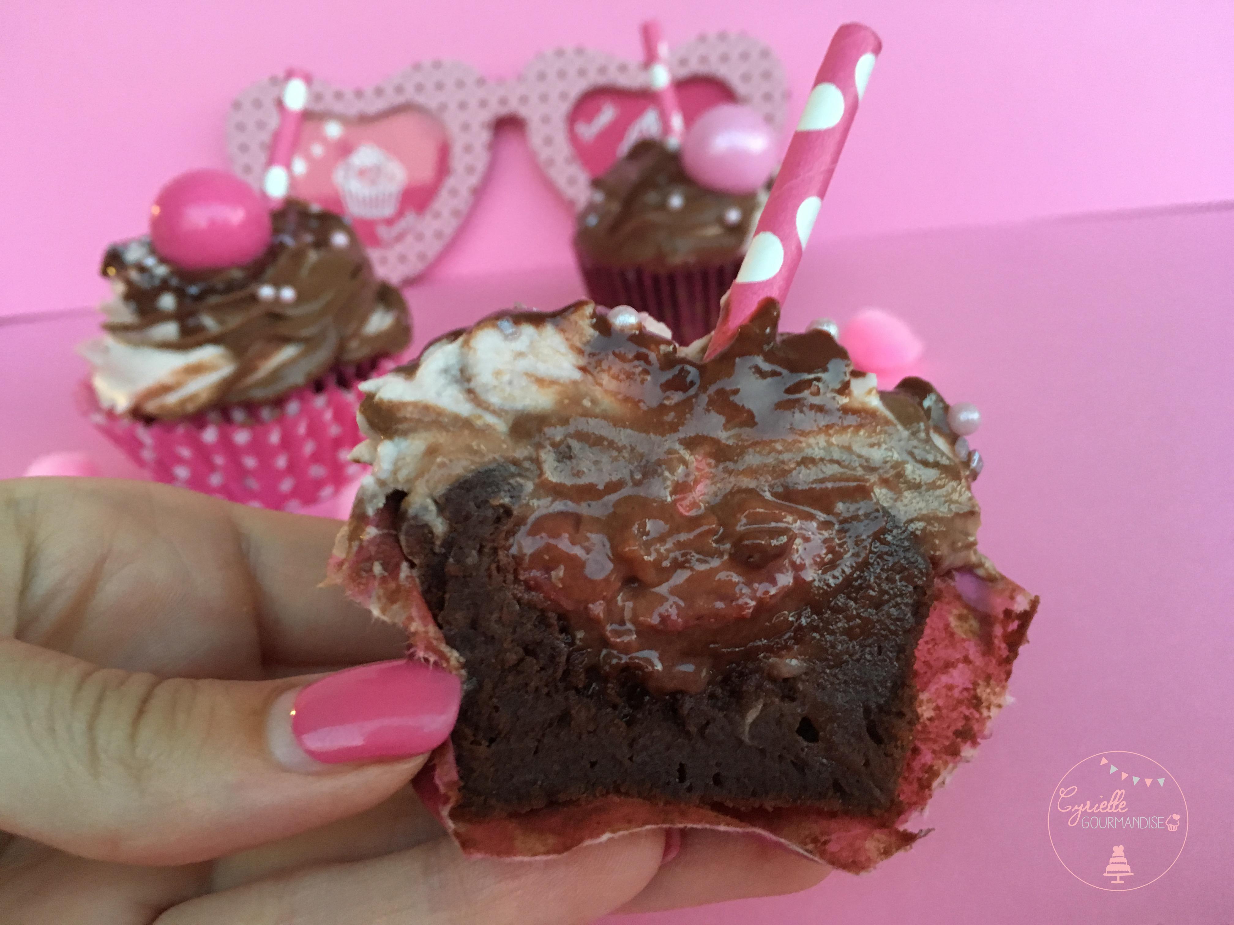 Cupcakes fraise choco 7 L