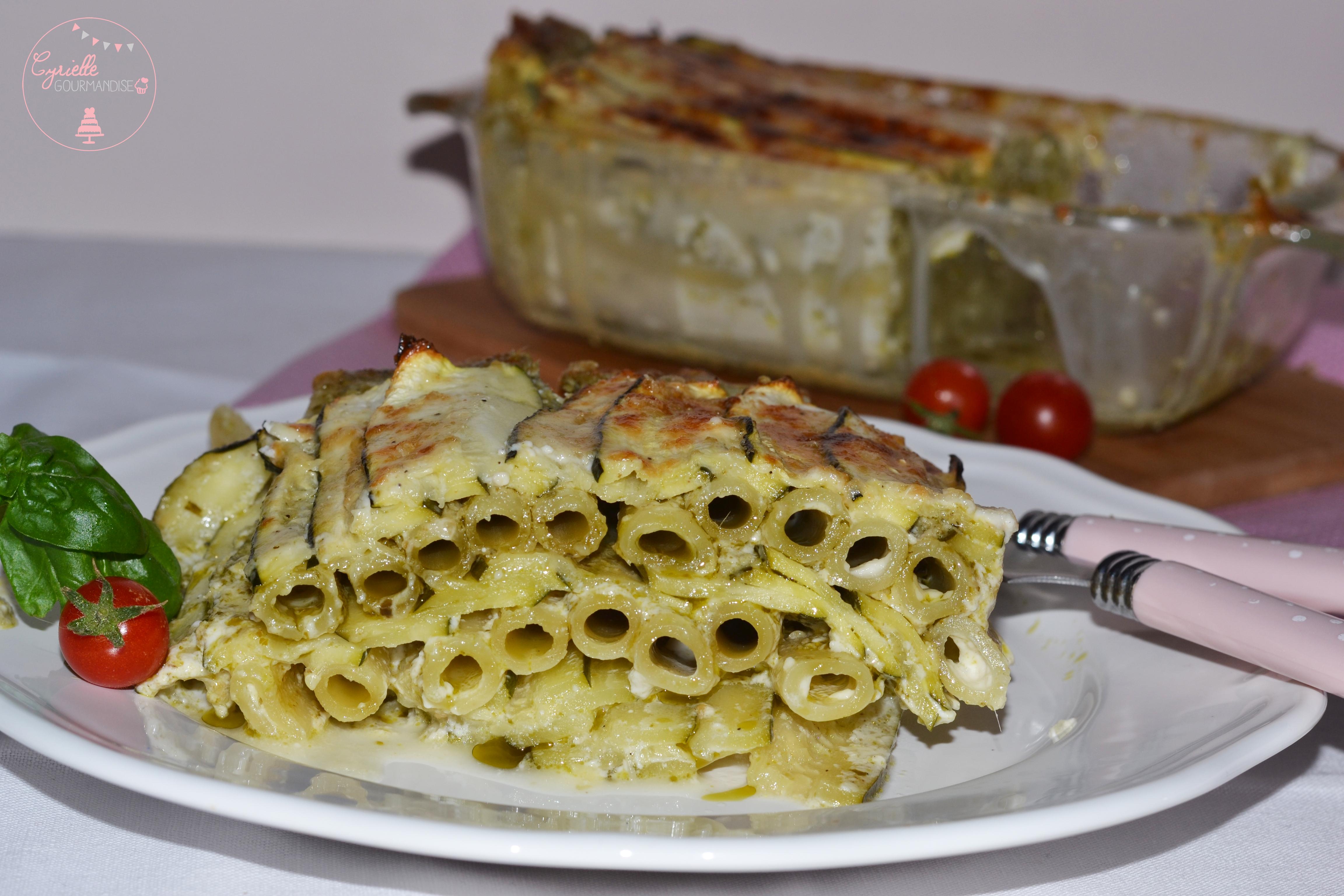 Lasagnes Courgettes Pesto à ma façon