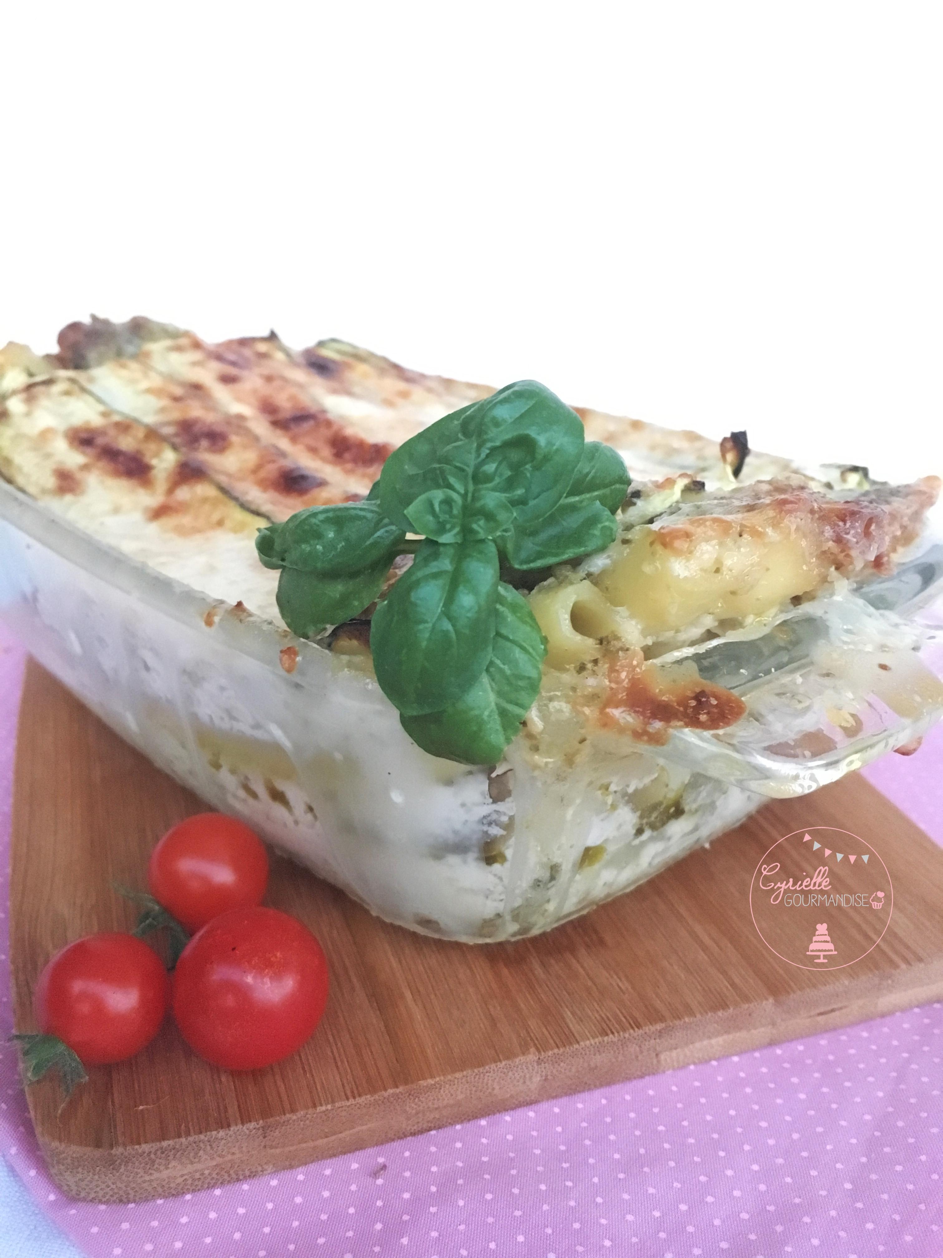 Lasagnes Courgettes pesto à ma façon 4