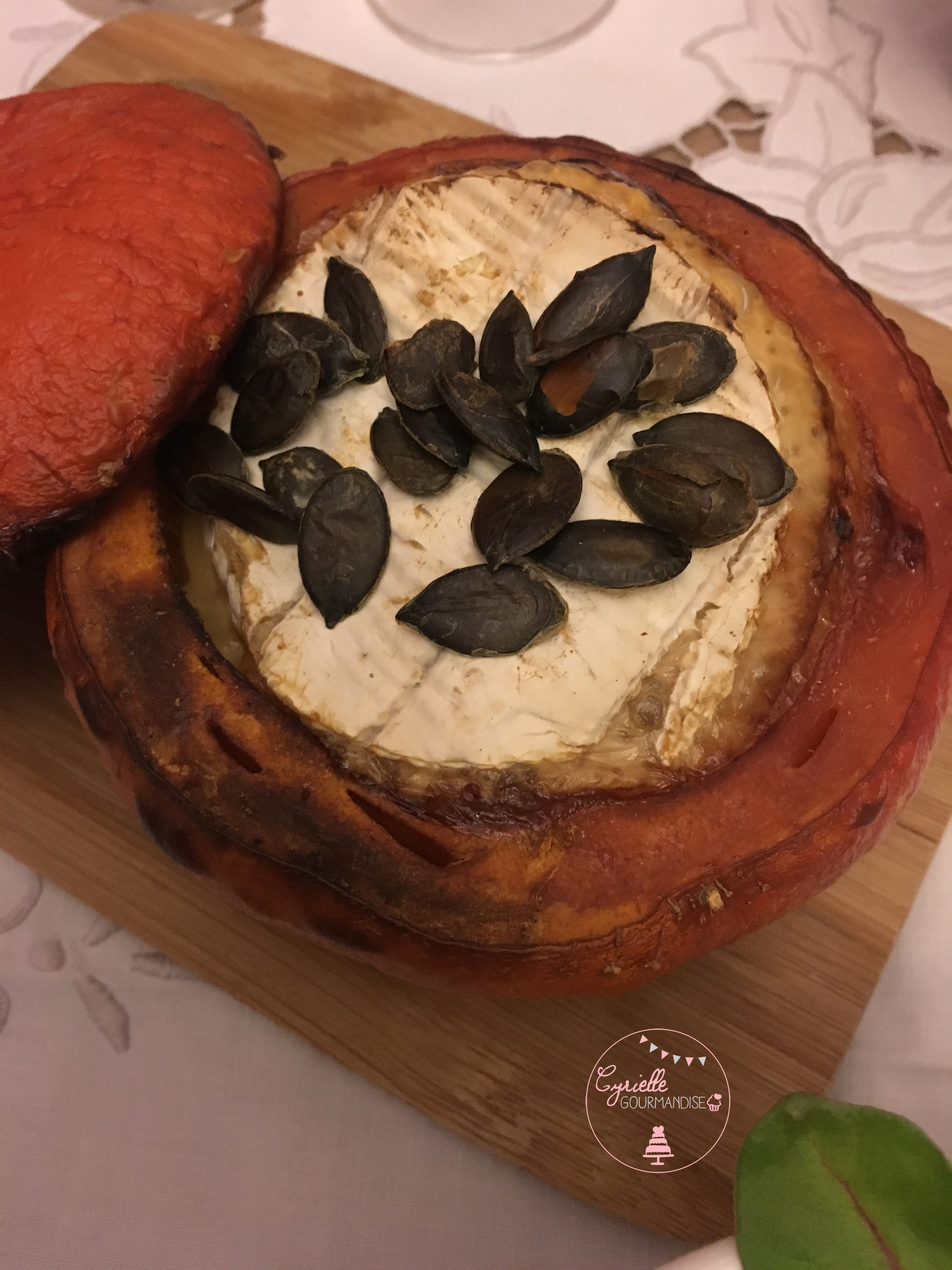 Potimarron et camembert rôtis 4