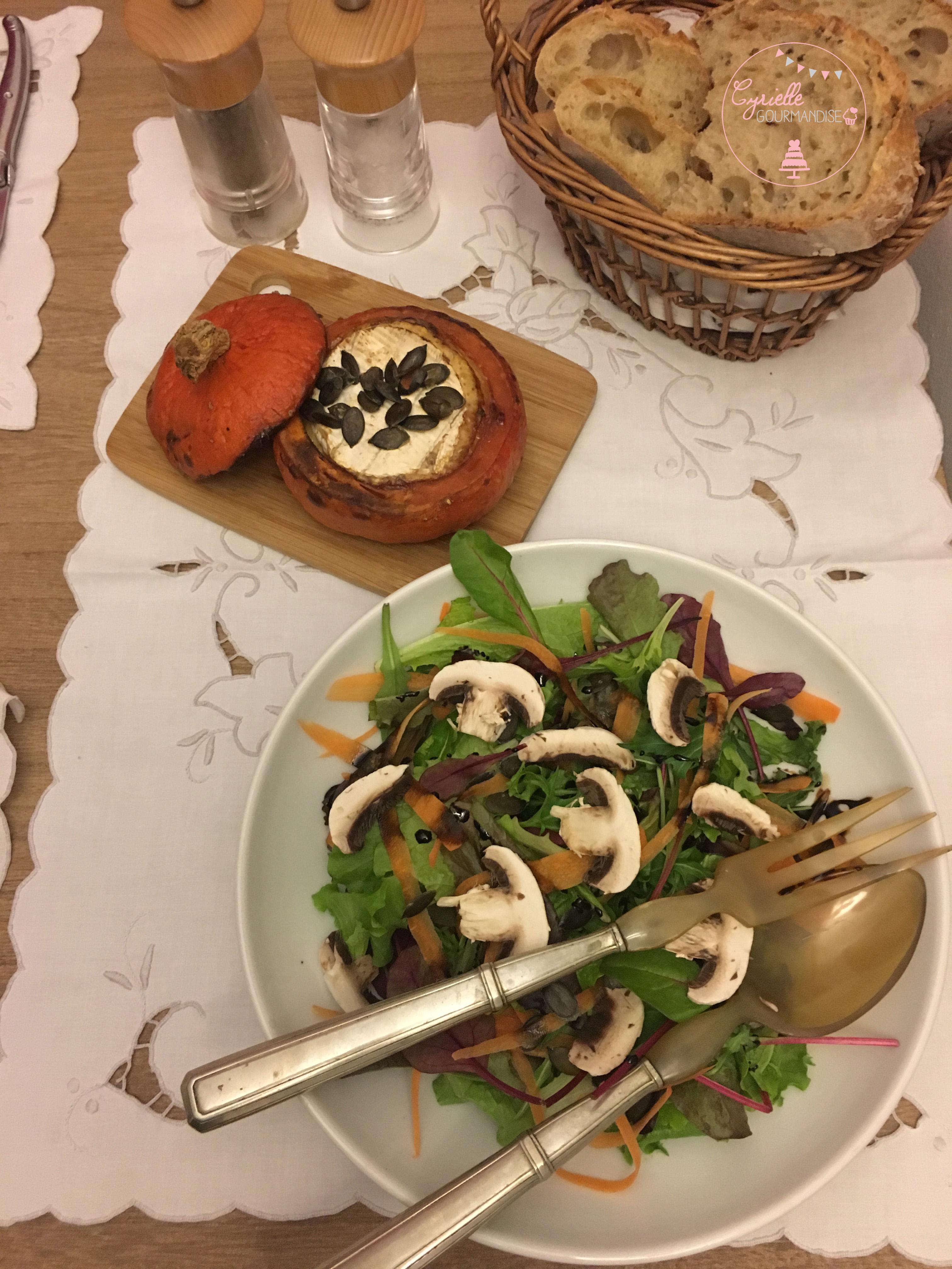 Potimarron et camembert rôtis 5