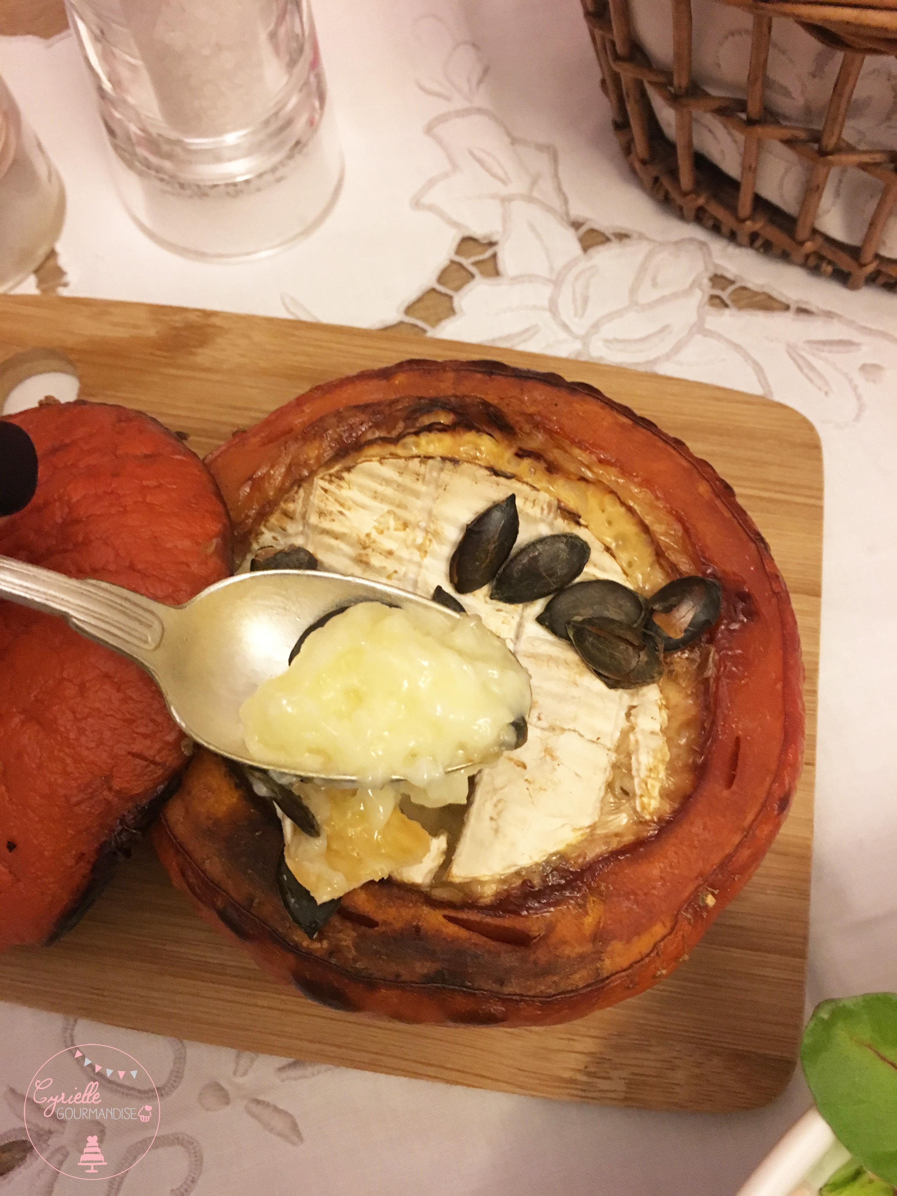 Potimarron et camembert rôtis 6