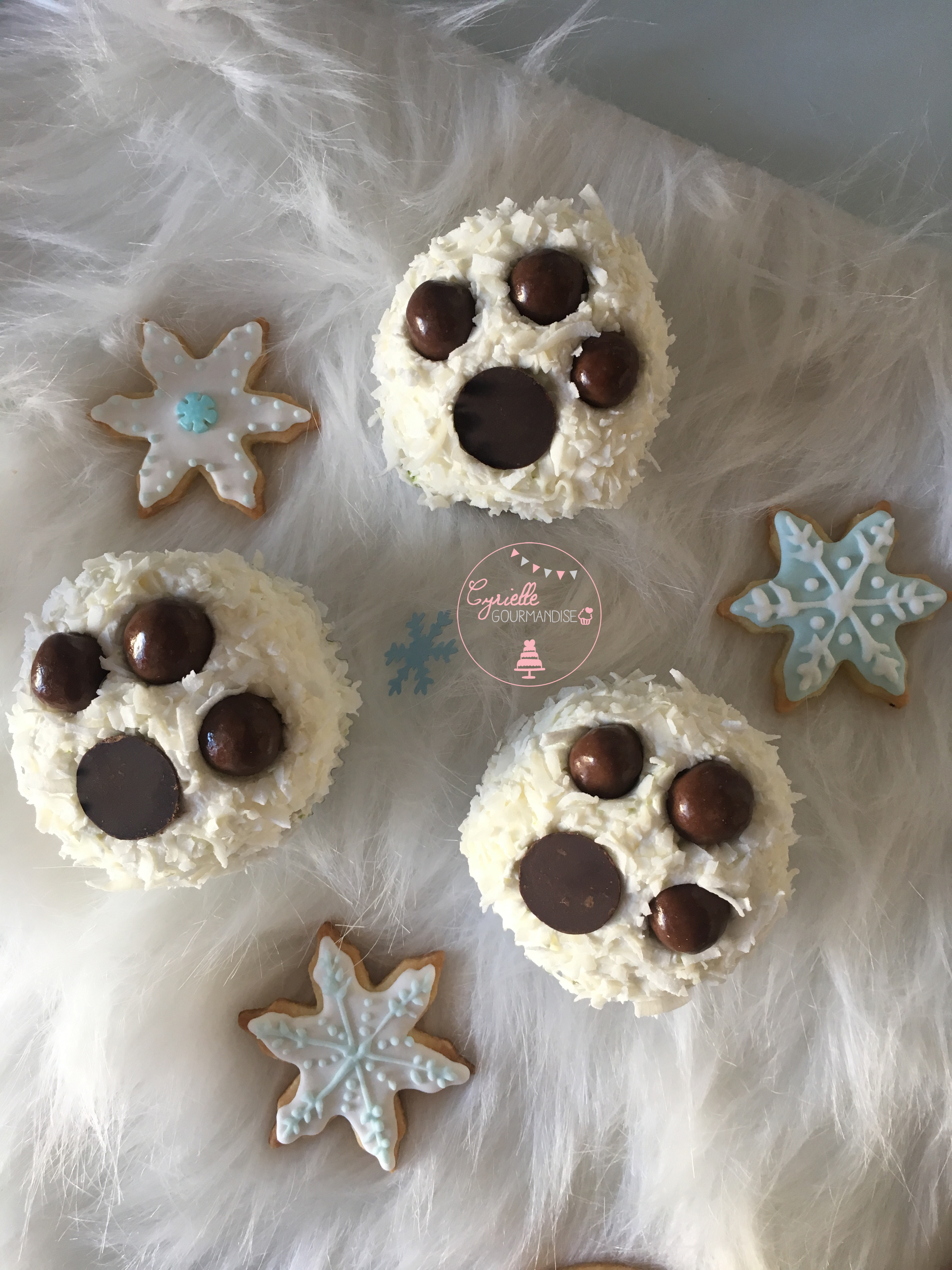 Cupcakes Coco Citron Vert