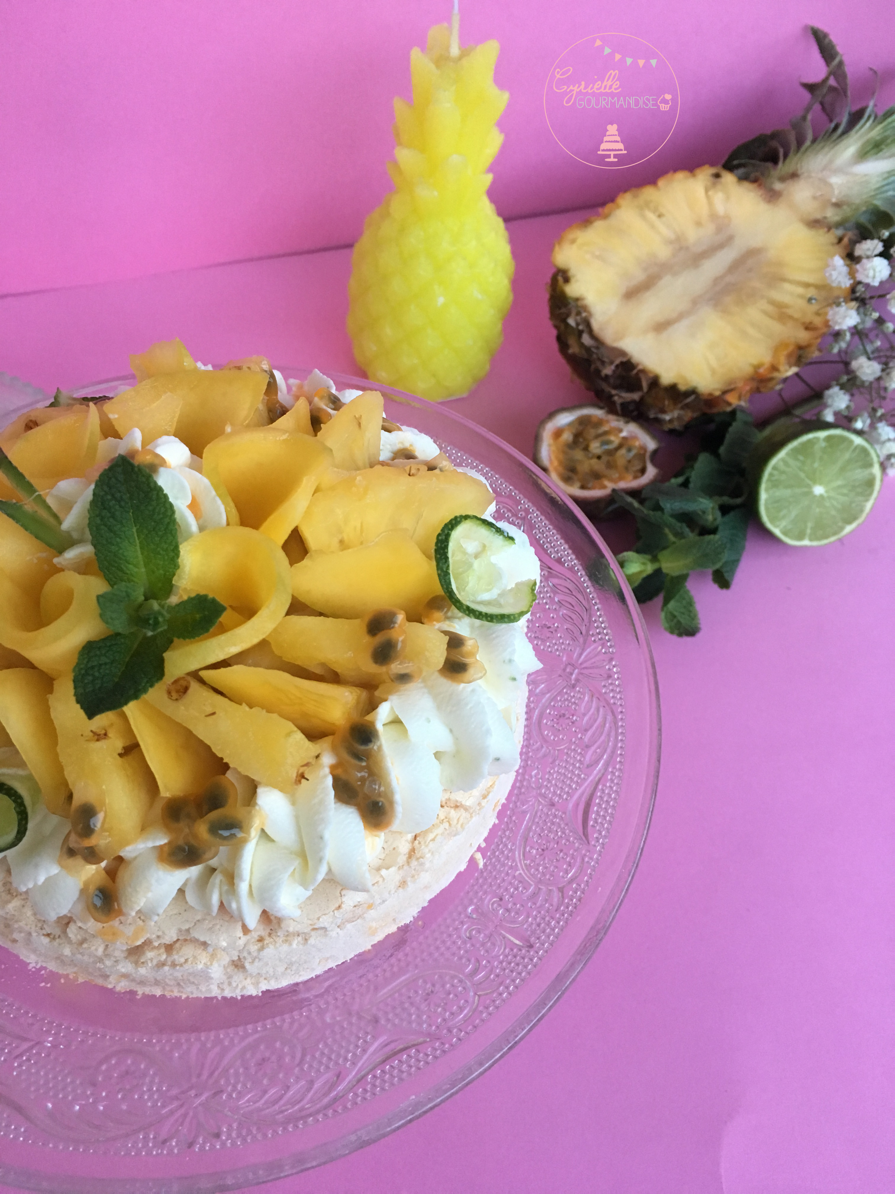 Pavlova Fruits exotiques citron vert 3