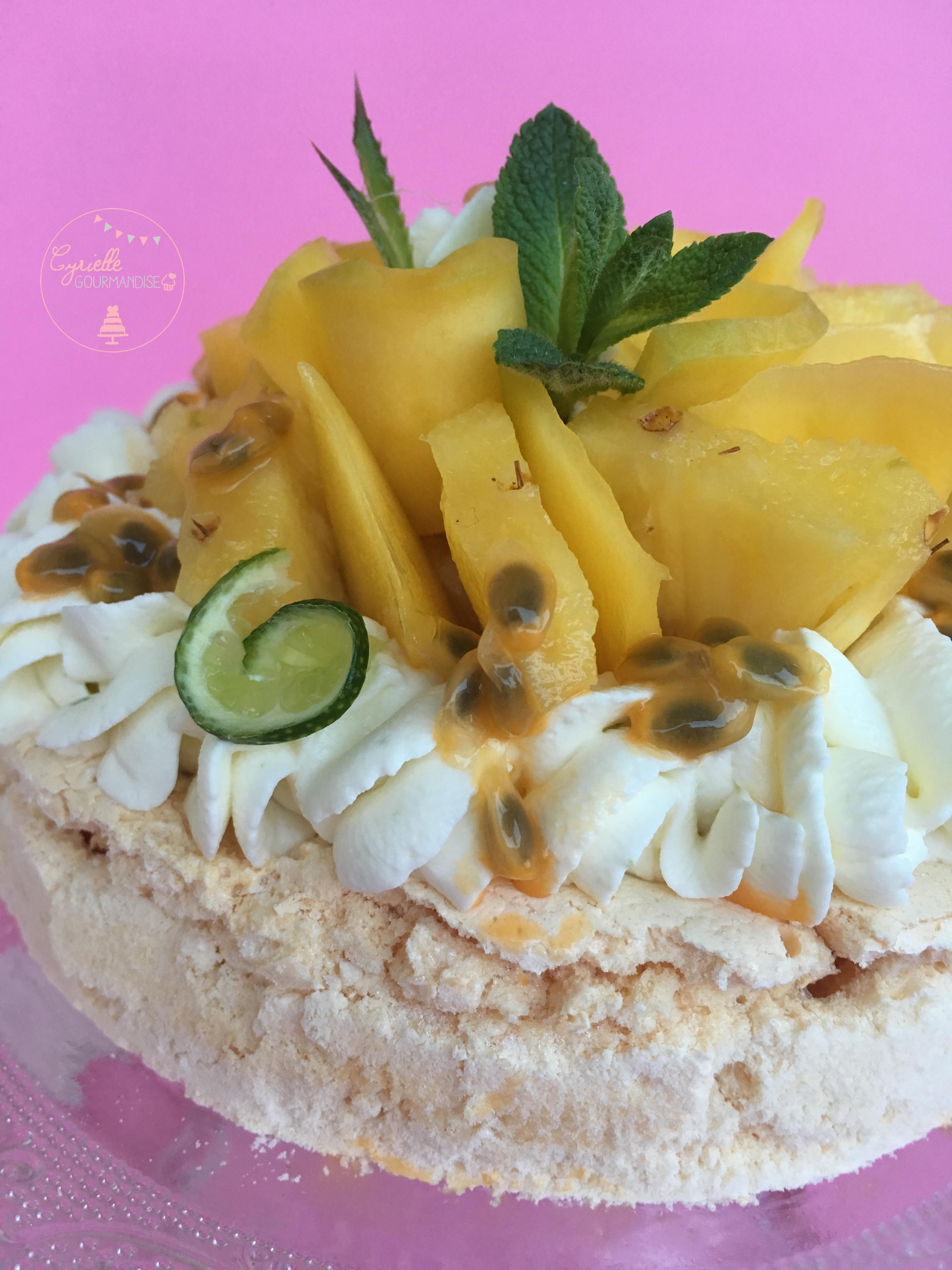 Pavlova Fruits exotiques citron vert 4