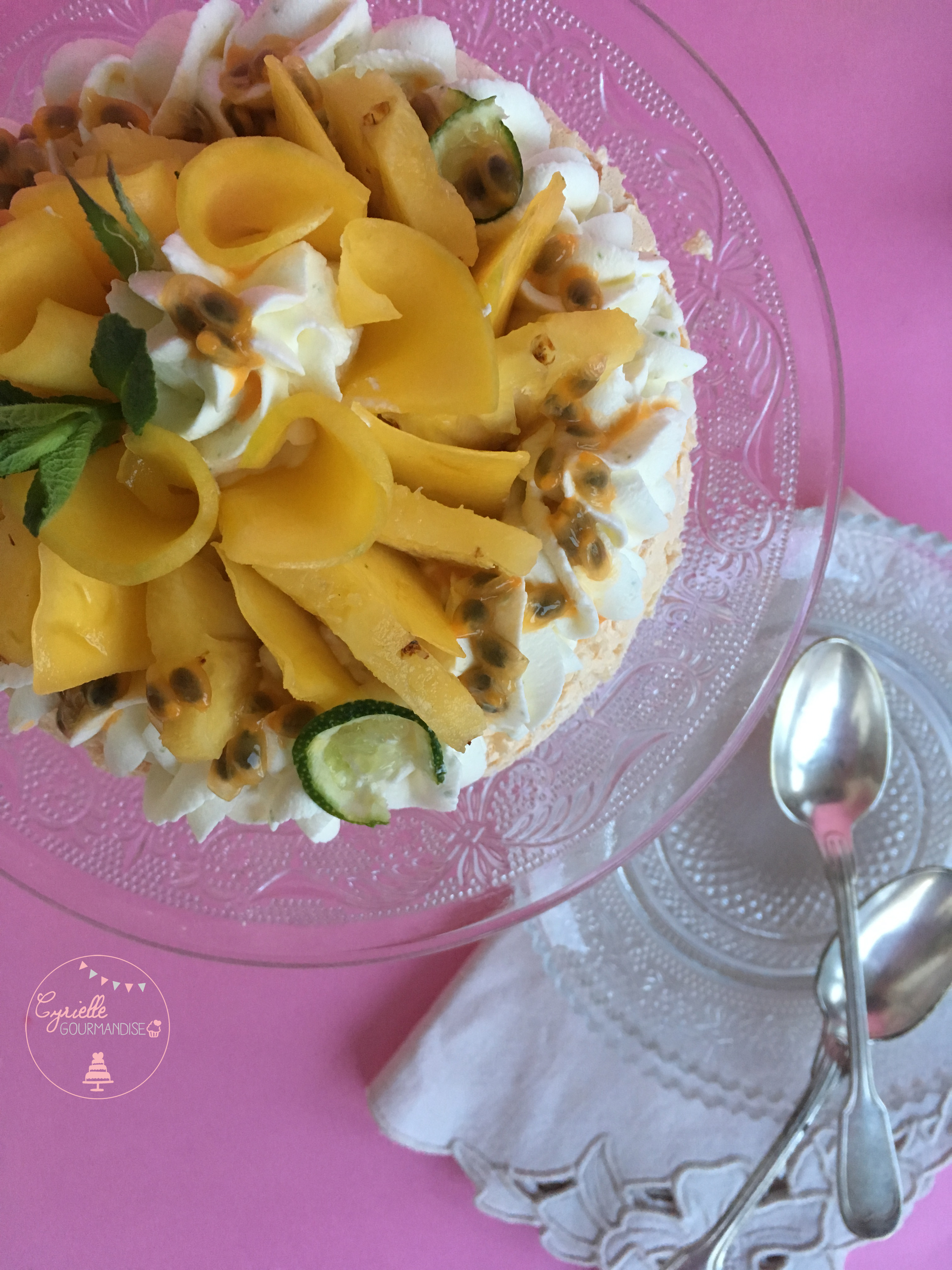 Pavlova Fruits exotiques citron vert 7