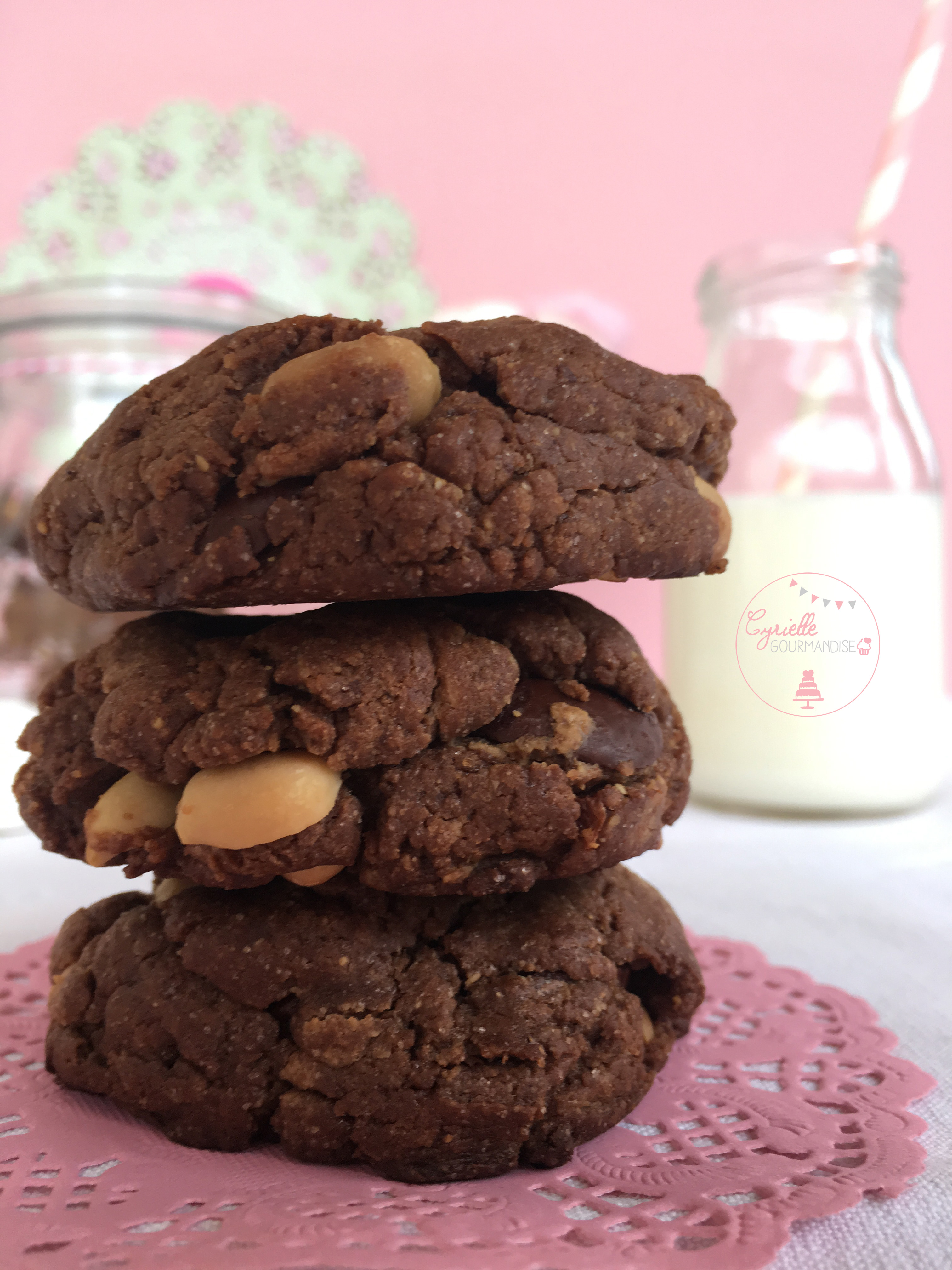 Cookies chocolat beurre de cacahu te cyrielle gourmandise - Cookies beurre de cacahuete ...