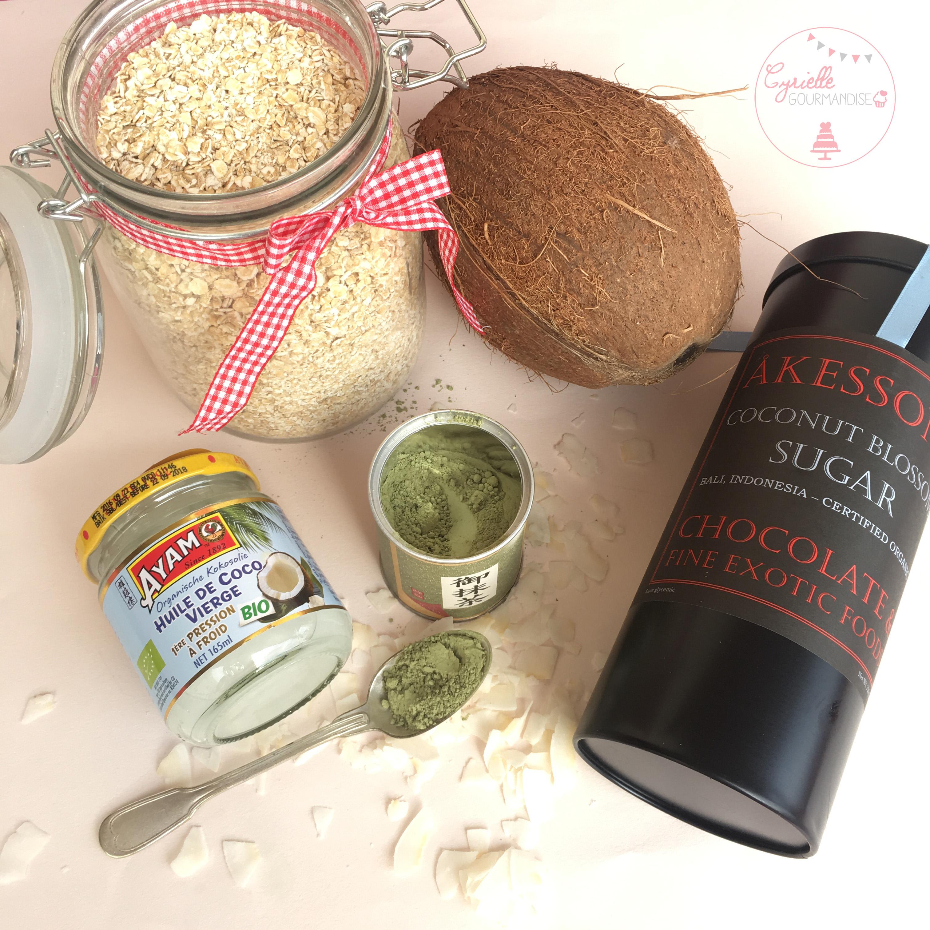 Granola Coco Matcha ingrédients