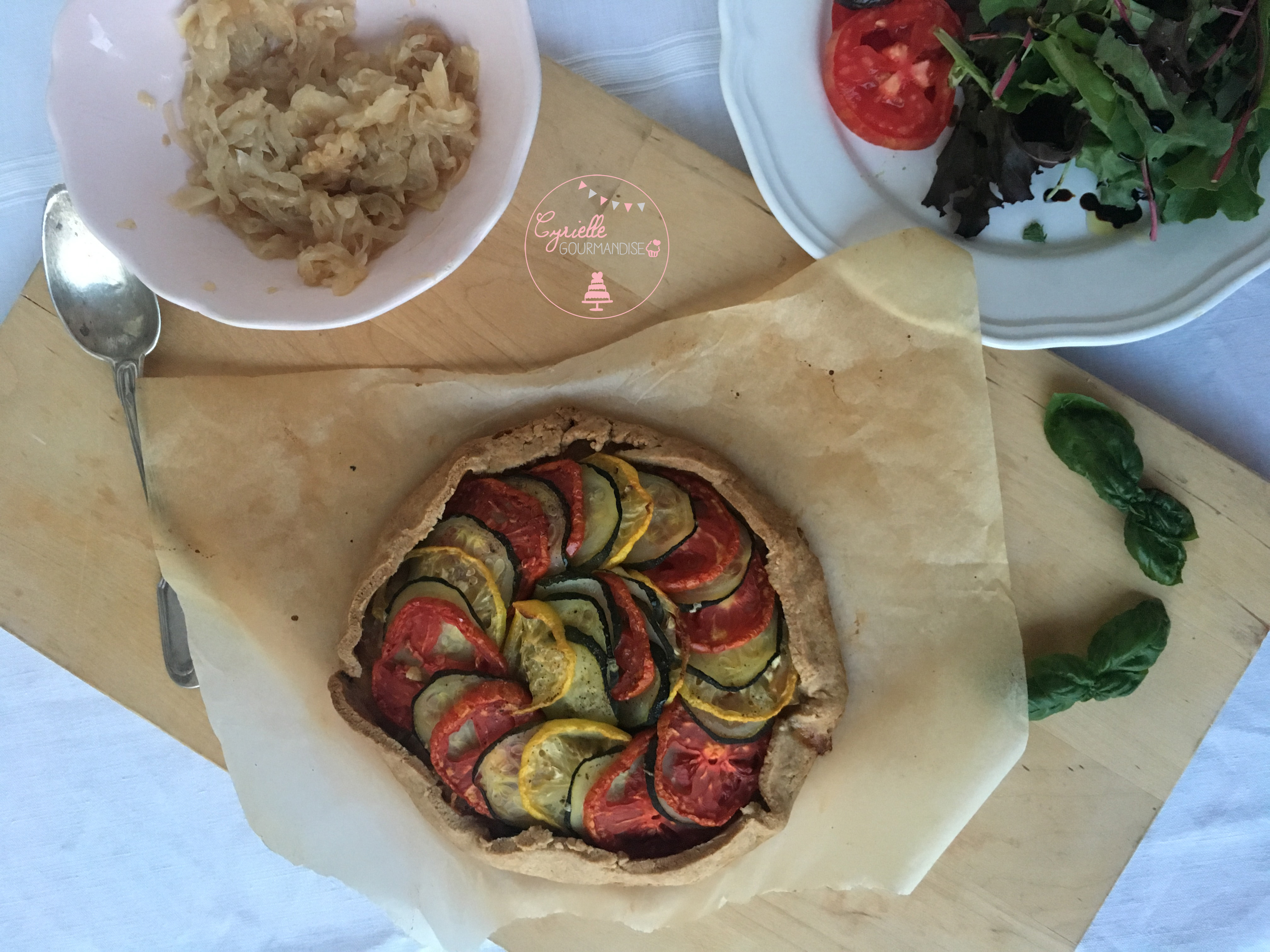 Tarte Petit Epeautre Oignons Tomates Courgettes 3