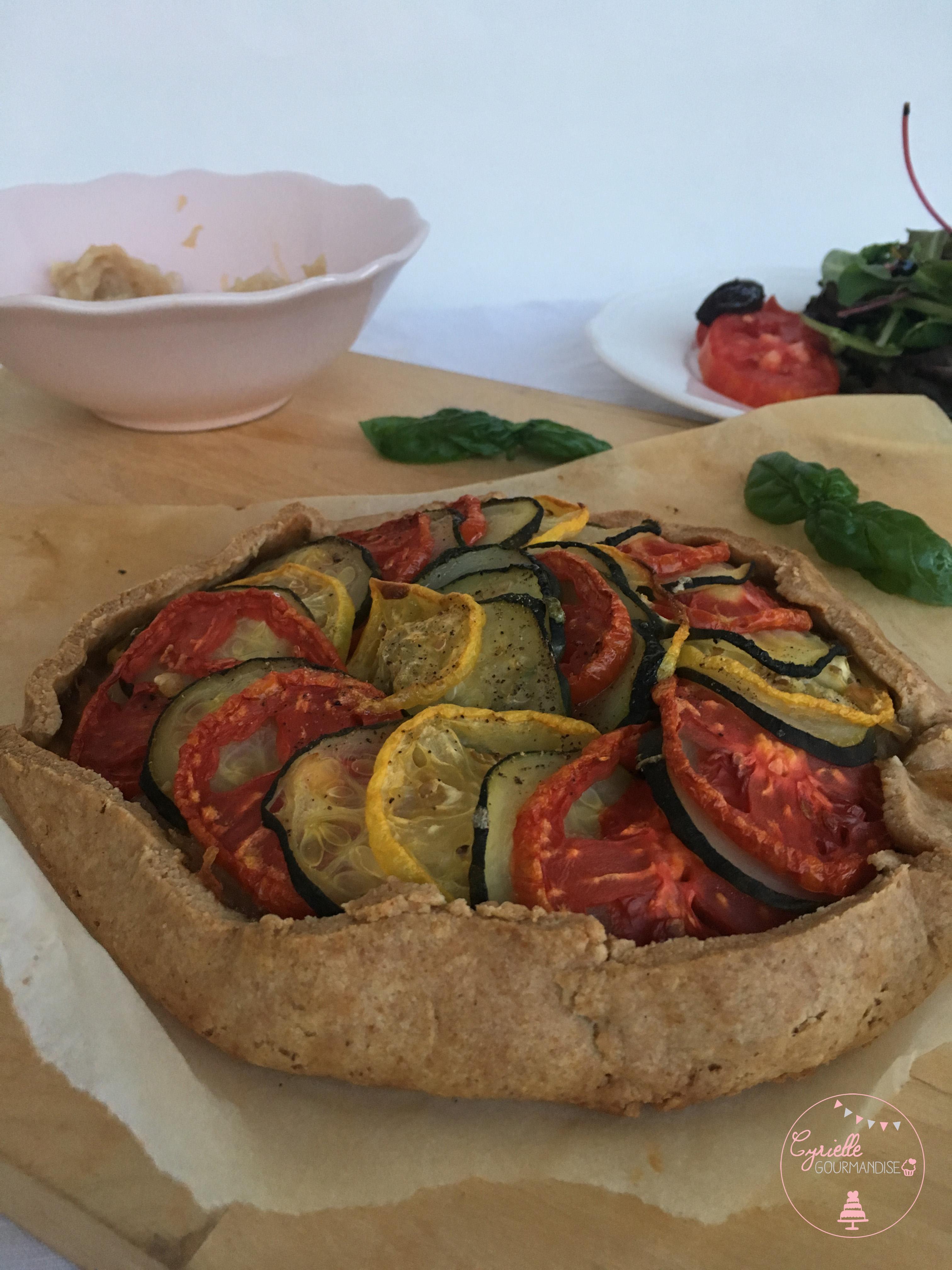 Tarte Petit Epeautre Oignons Tomates Courgettes 4