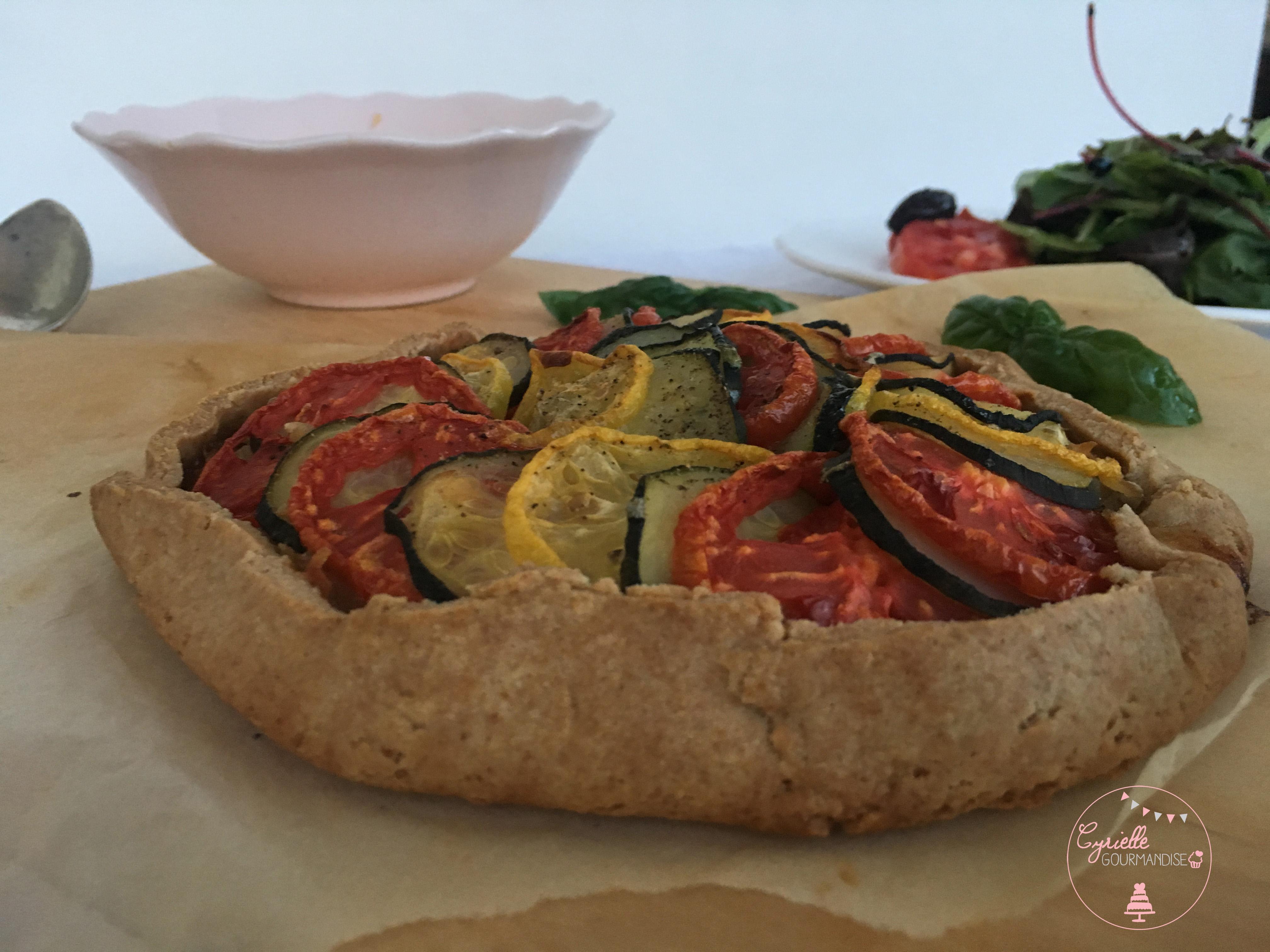Tarte Petit Epeautre Oignons Tomates Courgettes 5