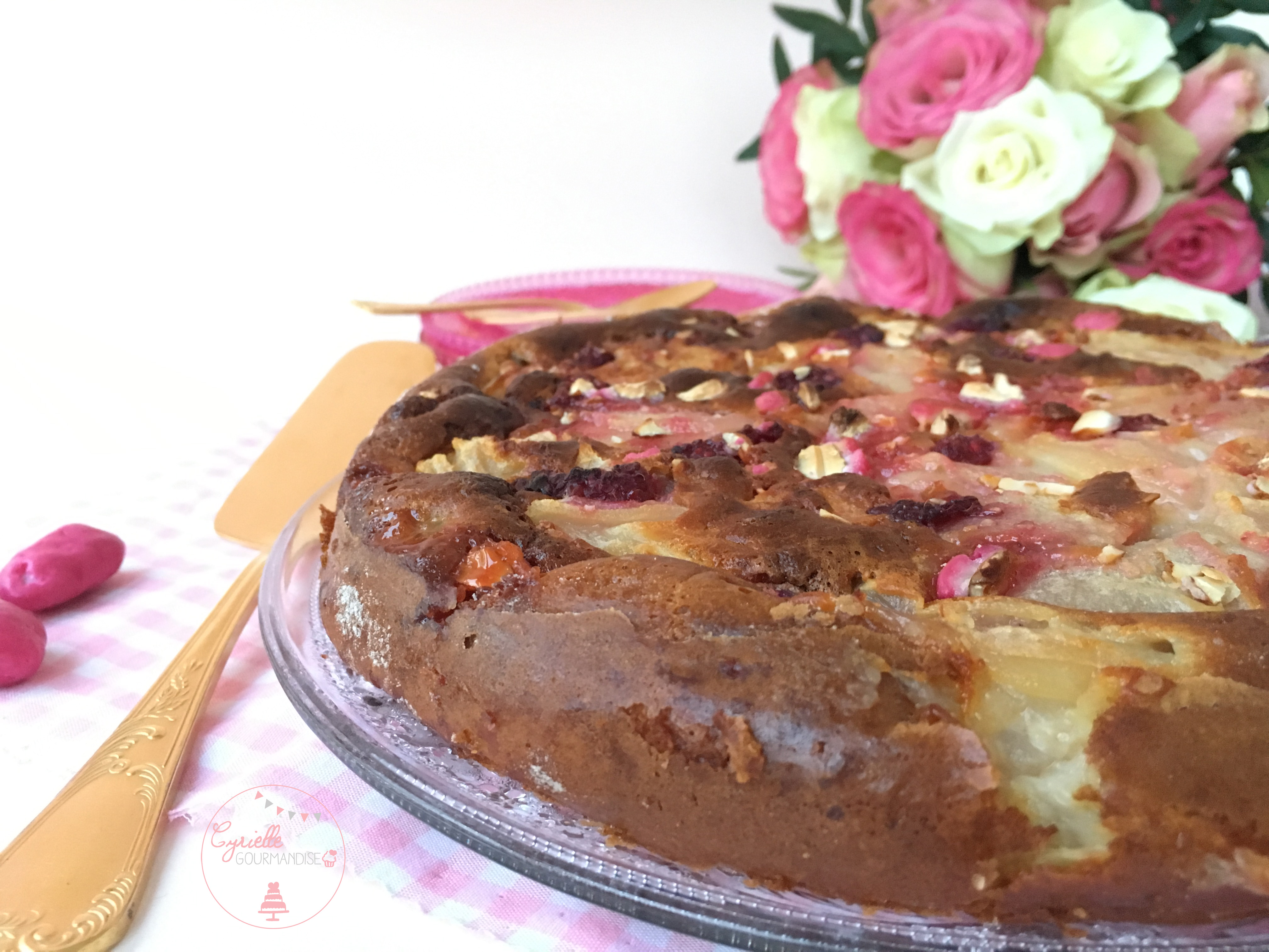 Gâteau invisible Poire Framboise Praline 4
