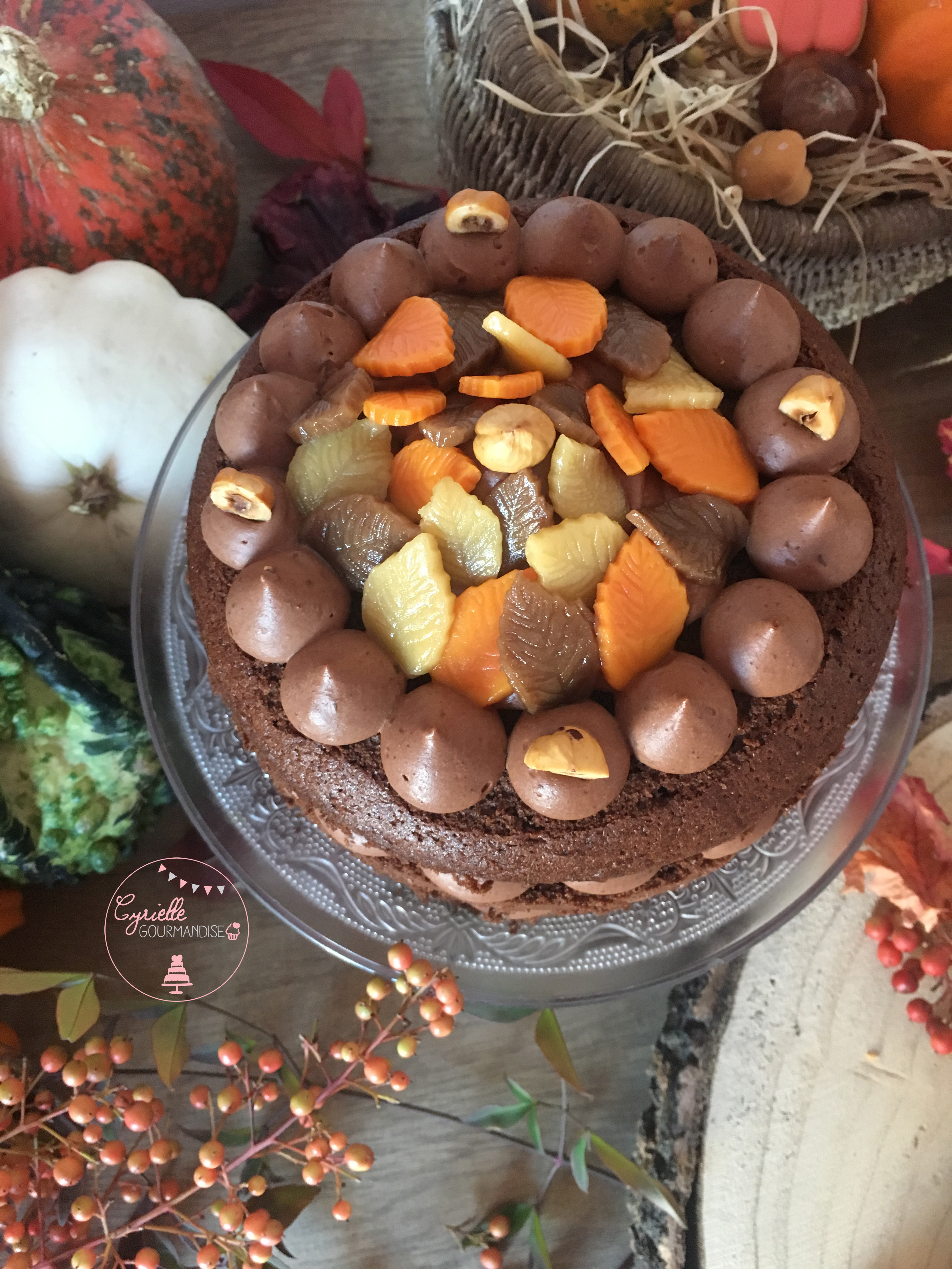 Layer Cake Chocolat Noisette Caramel 3