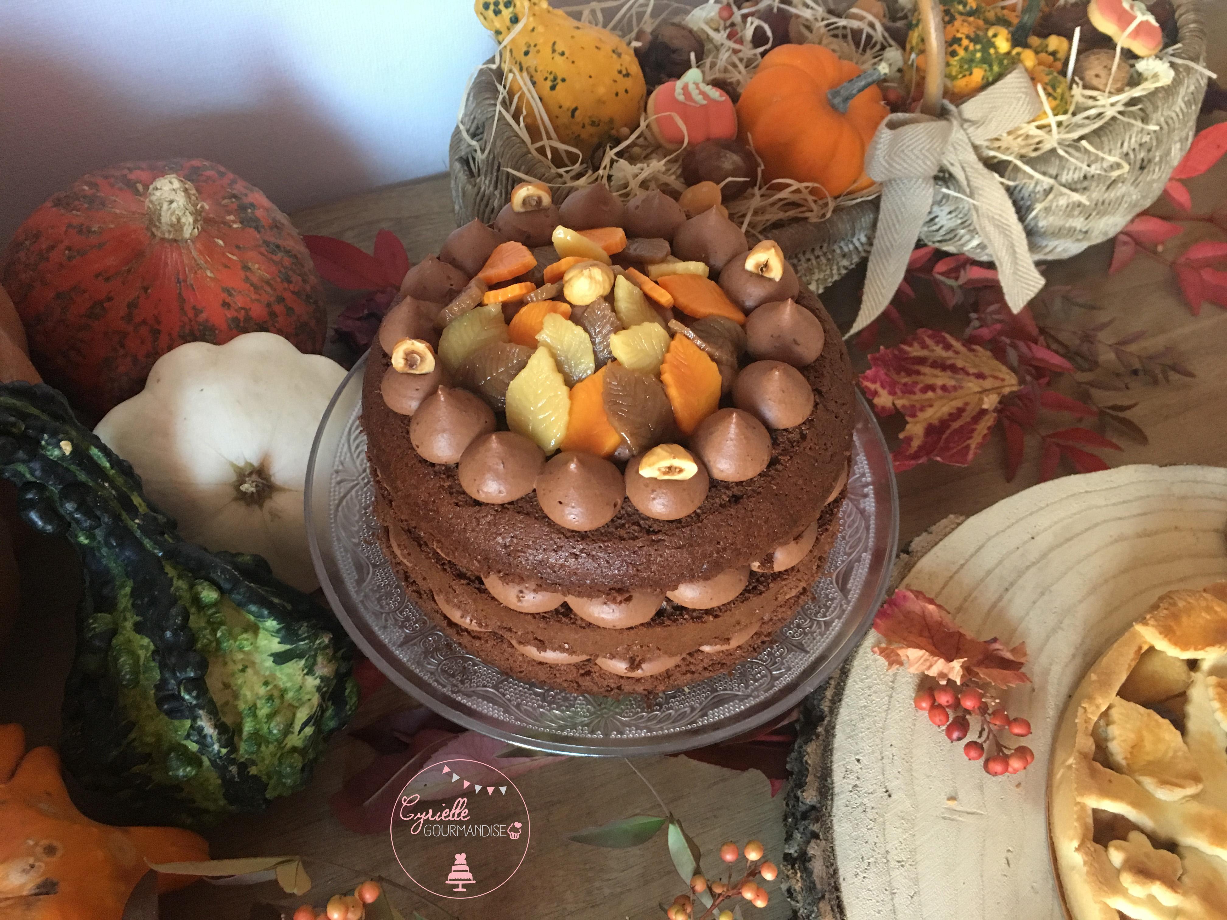 Layer Cake Chocolat Noisette Caramel 4