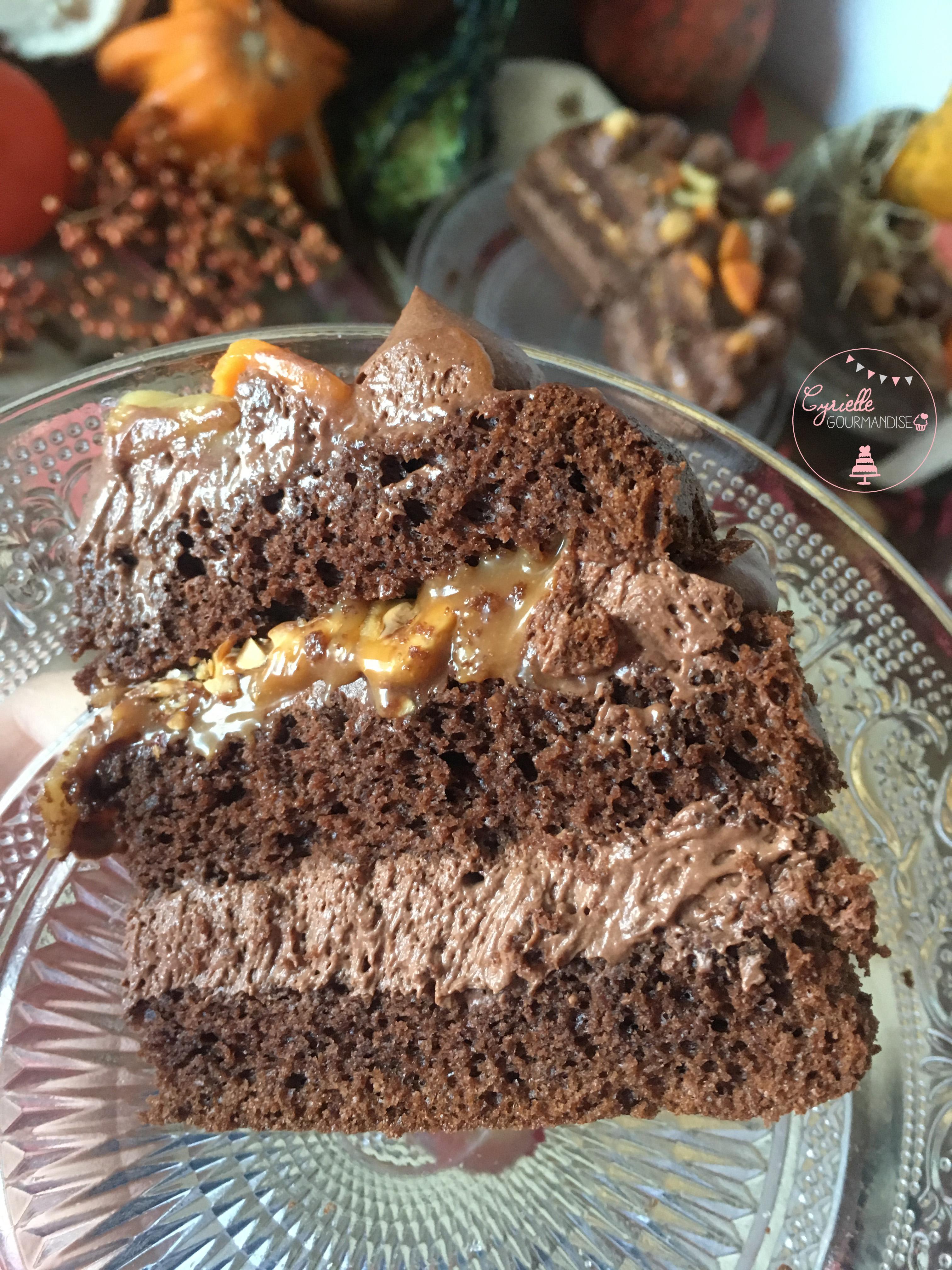 Layer Cake Chocolat Noisette Caramel 8