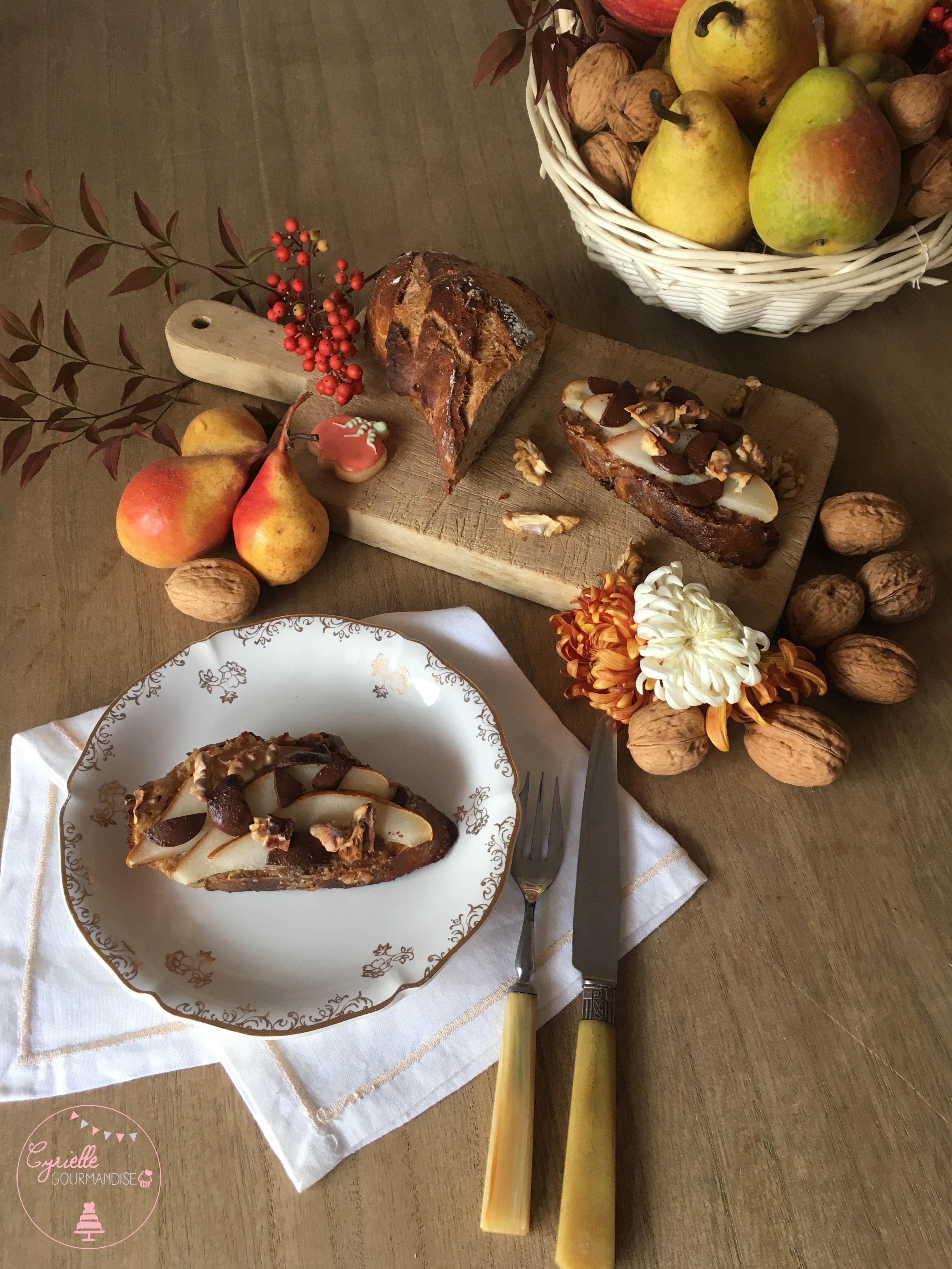 Tartines Pain Perdu Poire Noix Chocolat 2
